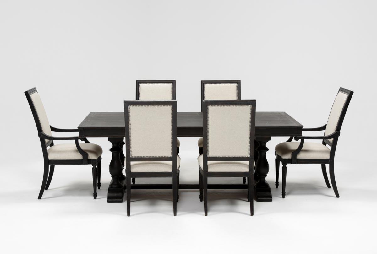 Chapleau 7 Piece Extension Dining Set | Living Spaces For 2017 Chapleau Extension Dining Tables (Image 3 of 20)