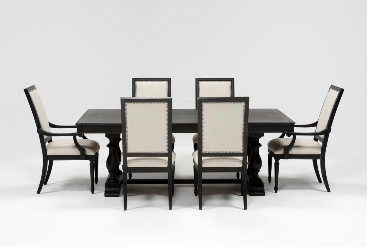 Chapleau 7 Piece Extension Dining Set | Living Spaces For Current Chapleau Ii Extension Dining Tables (View 4 of 20)