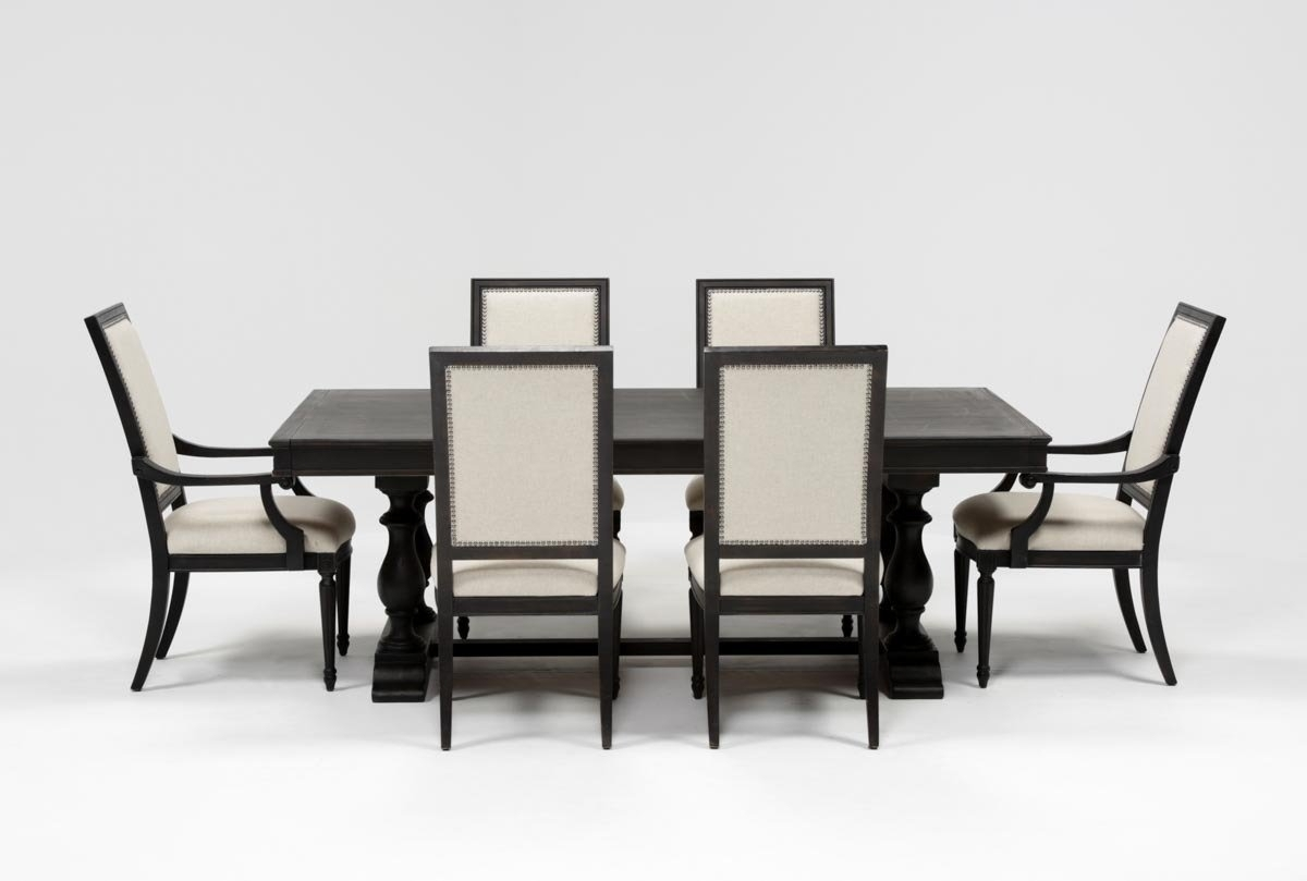 Chapleau 7 Piece Extension Dining Set | Living Spaces For Latest Chapleau Ii 7 Piece Extension Dining Table Sets (Image 5 of 20)