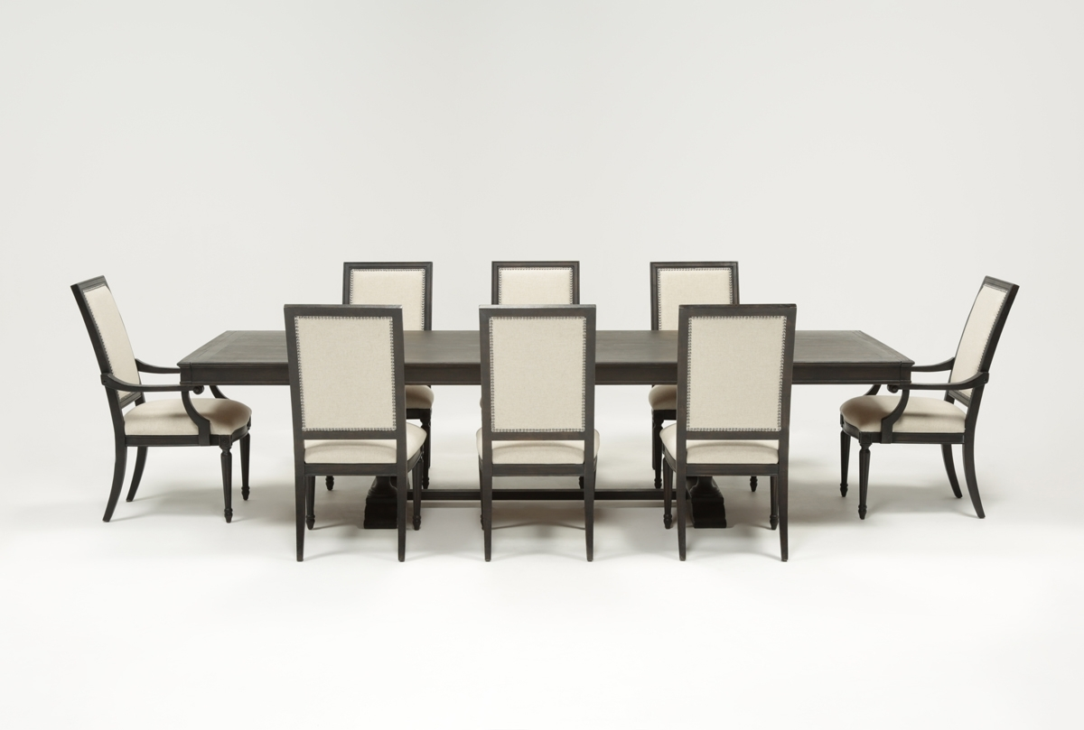 Chapleau 9 Piece Extension Dining Set | Living Spaces With Regard To Most Up To Date Chapleau Ii 9 Piece Extension Dining Tables With Side Chairs (View 2 of 20)