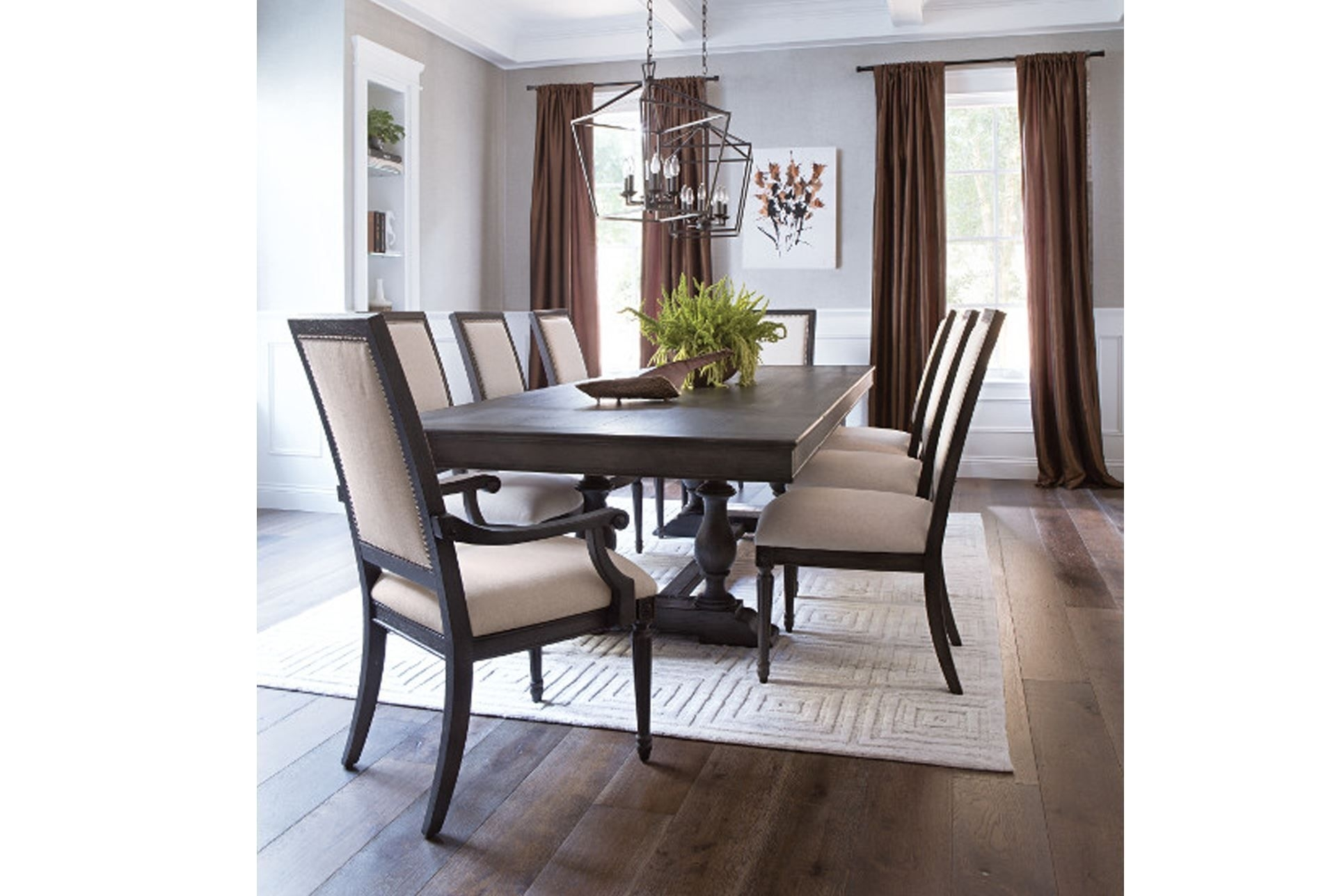 Chapleau 9 Piece Extension Dining Set, Off White Throughout Latest Chapleau Extension Dining Tables (View 8 of 20)