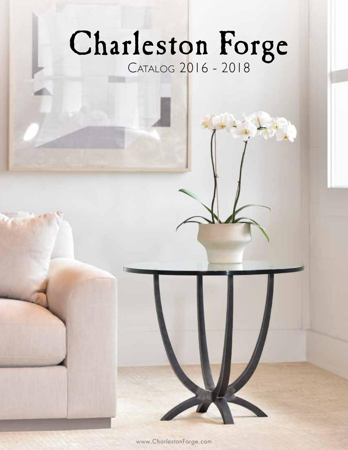 Charleston Forge Furniture Catalog 2017 – Hand Forged Iron Furniture Intended For Recent Ina Pewter 60 Inch Counter Tables With Frosted Glass (View 16 of 20)
