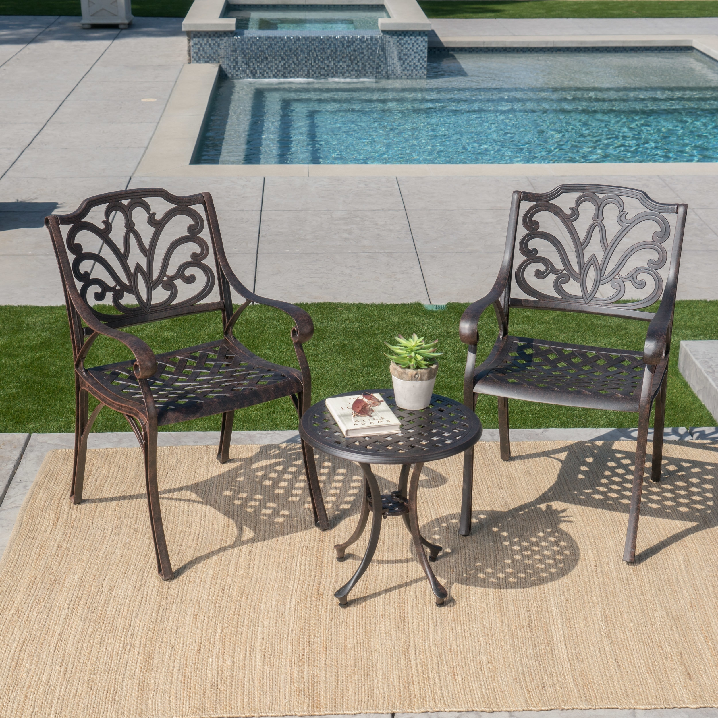 Charlton Home Kastner 3 Piece Conversation Set & Reviews | Wayfair With Regard To Most Up To Date Palazzo 7 Piece Rectangle Dining Sets With Joss Side Chairs (View 16 of 20)