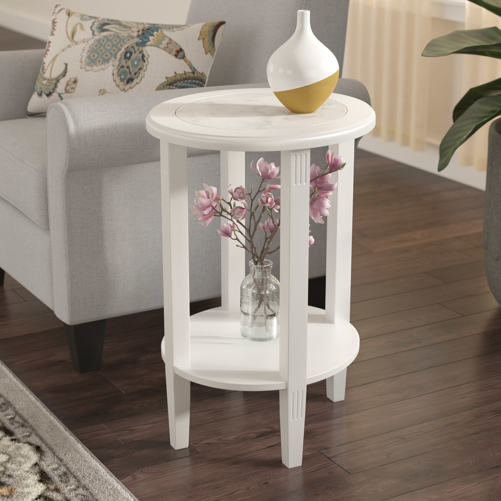 Charlton Home Versailles End Table & Reviews | Wayfair With Regard To Latest Chapleau Ii 7 Piece Extension Dining Table Sets (Photo 18 of 20)