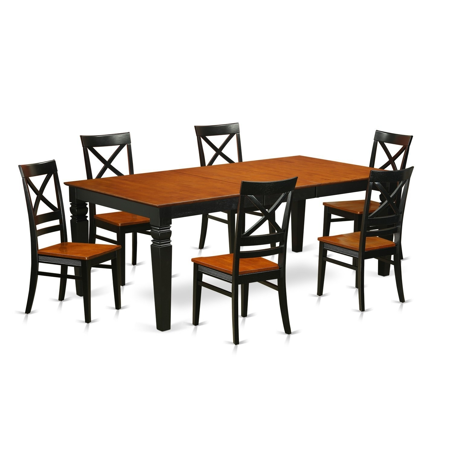 Cheap Cherry And Black Dining Table, Find Cherry And Black Dining In Newest Logan 7 Piece Dining Sets (Image 5 of 20)