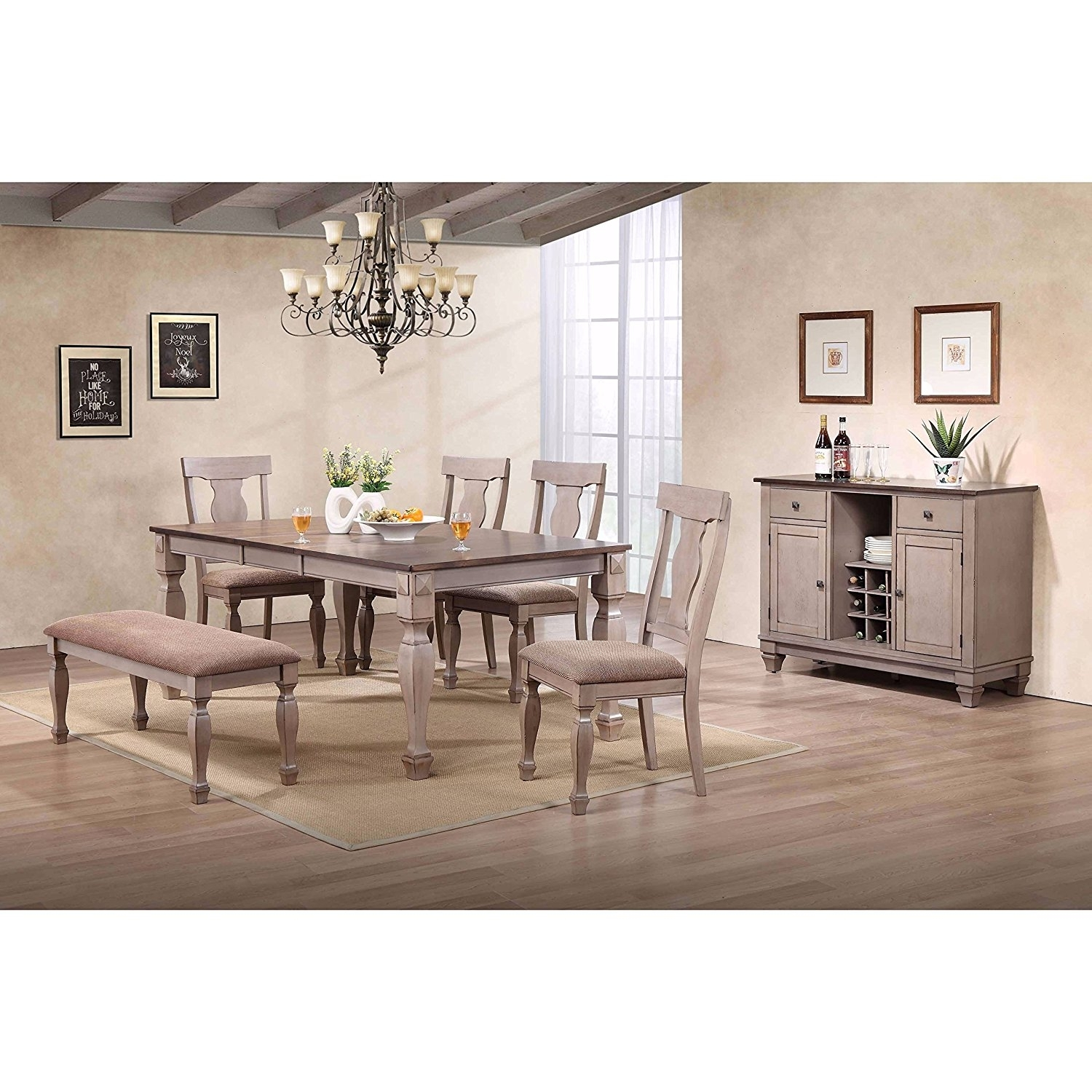 Cheap Two Tone Dining Room, Find Two Tone Dining Room Deals On Line Intended For Latest Candice Ii 5 Piece Round Dining Sets With Slat Back Side Chairs (View 13 of 20)