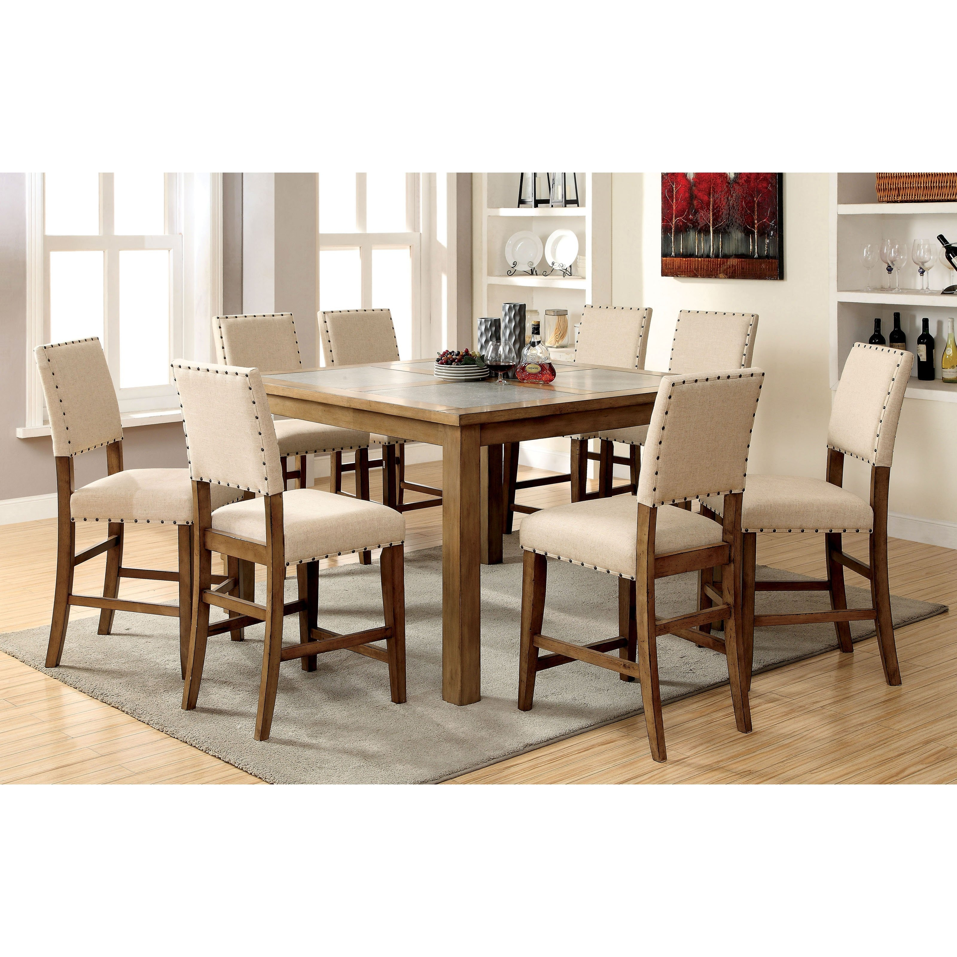 Cheery Caira Piece Extension Set Back Chairs Caira Piece Extension For Most Popular Chapleau Ii 9 Piece Extension Dining Table Sets (Image 8 of 20)