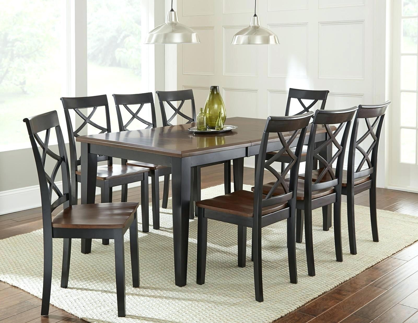 Cheery Caira Piece Extension Set Back Chairs Caira Piece Extension For Newest Chapleau Ii 9 Piece Extension Dining Table Sets (Image 9 of 20)