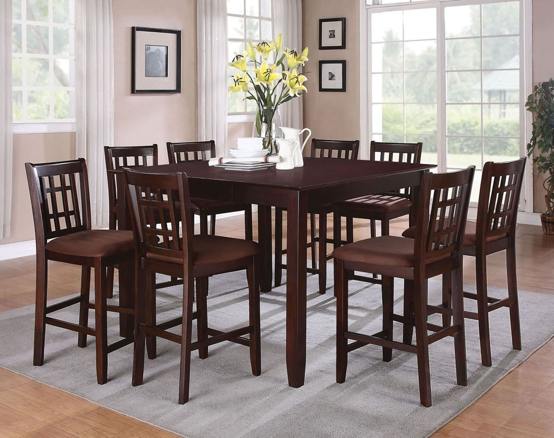 Cheery Caira Piece Extension Set Back Chairs Caira Piece Extension In 2018 Chapleau Ii 9 Piece Extension Dining Table Sets (Image 10 of 20)