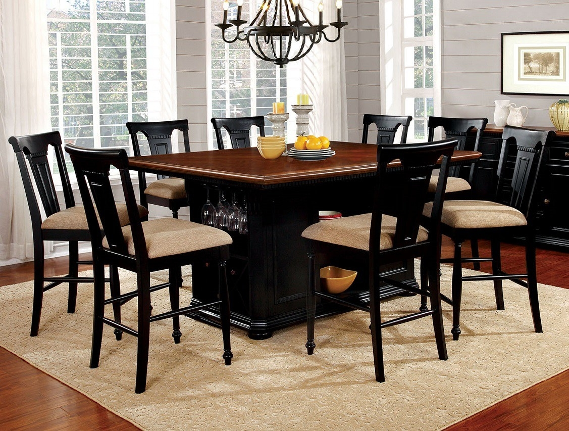Cheery Caira Piece Extension Set Back Chairs Caira Piece Extension In Latest Chapleau Ii 9 Piece Extension Dining Tables With Side Chairs (Image 7 of 20)