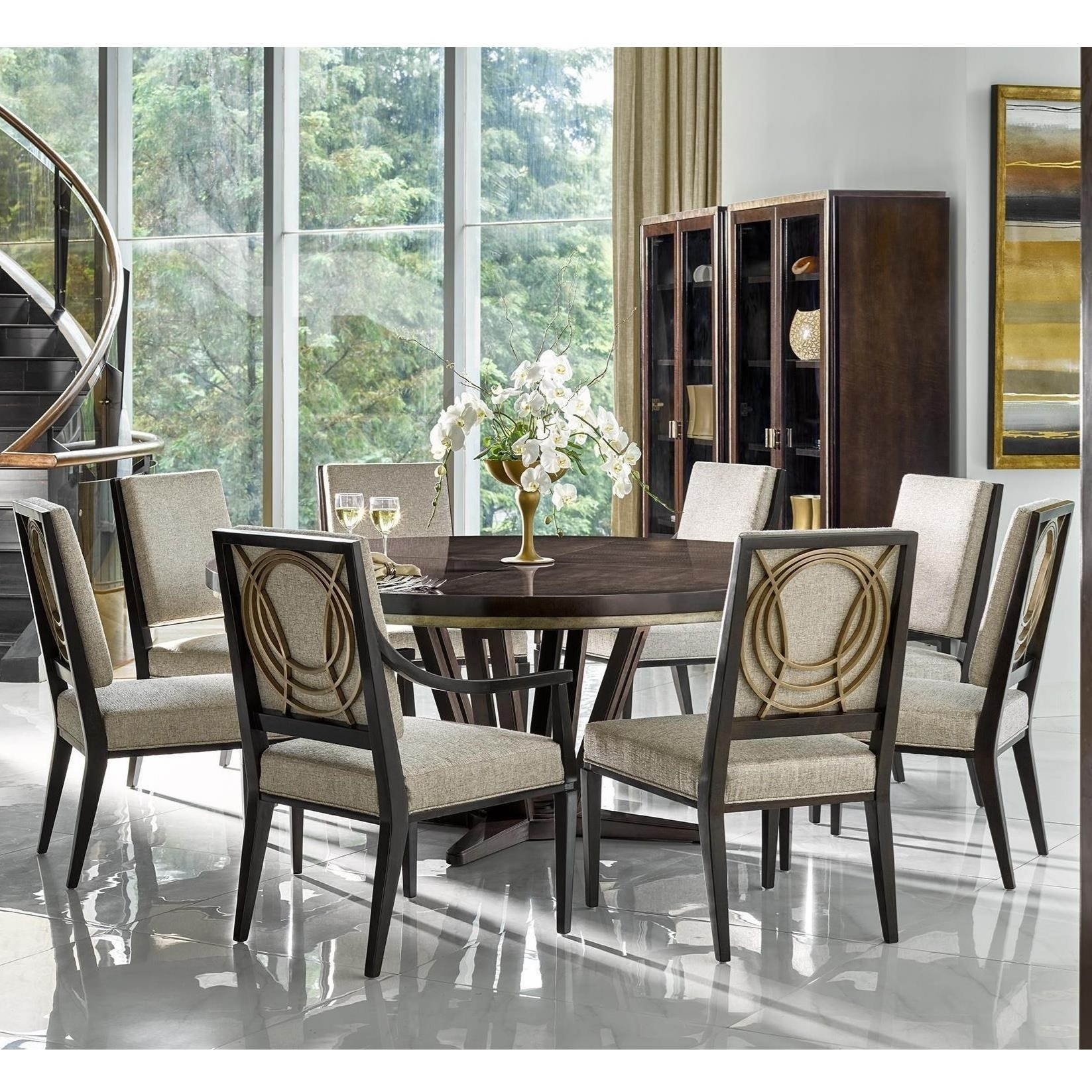 Cheery Caira Piece Extension Set Back Chairs Caira Piece Extension Pertaining To Most Recently Released Walden 9 Piece Extension Dining Sets (Image 1 of 20)