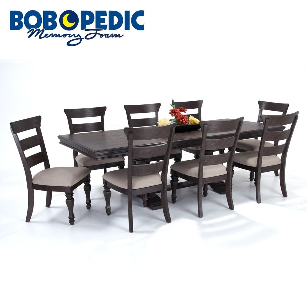 Cheery Caira Piece Extension Set Back Chairs Caira Piece Extension Regarding Recent Chapleau Ii 9 Piece Extension Dining Tables With Side Chairs (View 14 of 20)