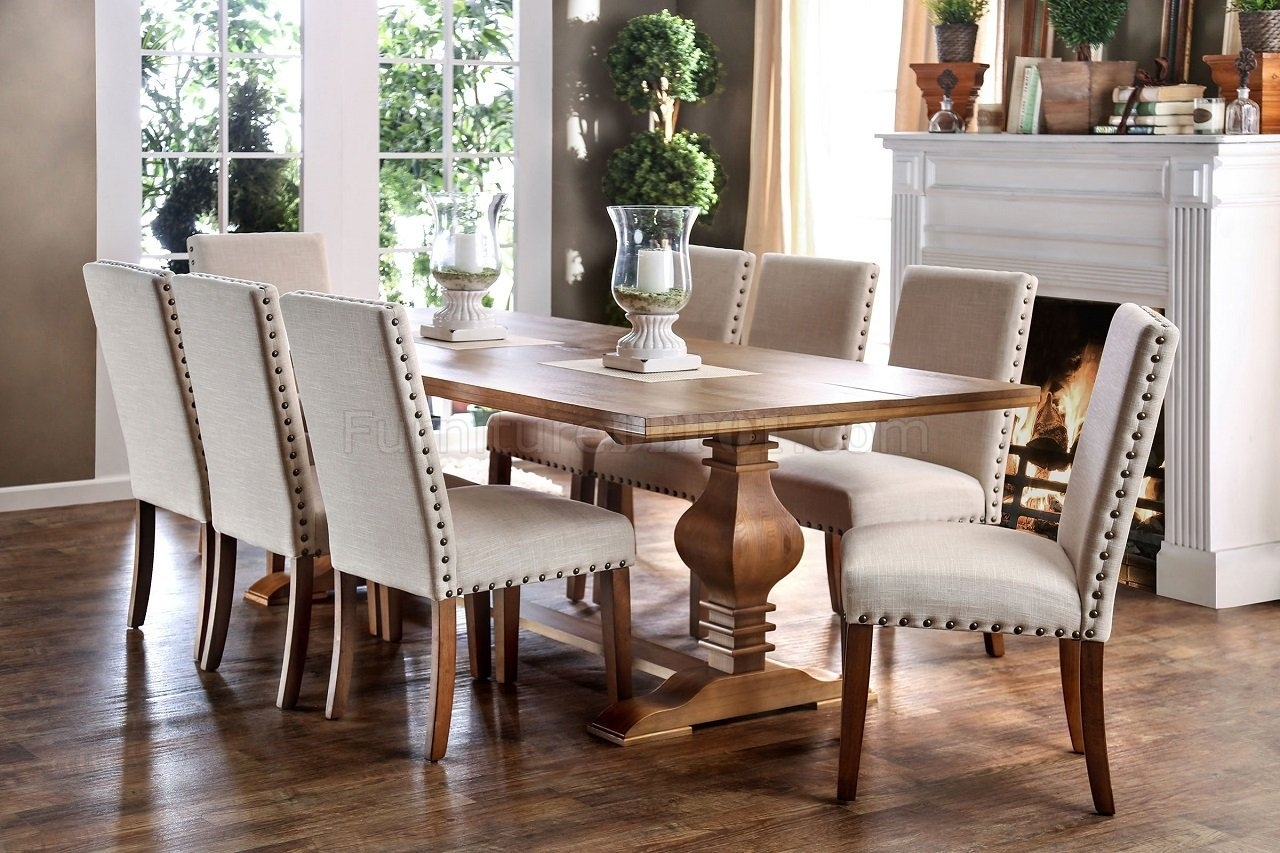 Cheery Caira Piece Extension Set Back Chairs Caira Piece Extension With Current Chapleau Ii 9 Piece Extension Dining Table Sets (Image 11 of 20)