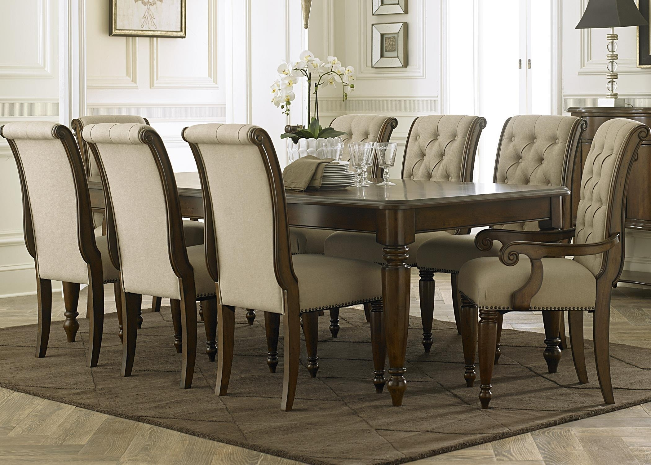 Cheery Caira Piece Extension Set Back Chairs Caira Piece Extension With Recent Chapleau Ii 9 Piece Extension Dining Tables With Side Chairs (Photo 10 of 20)