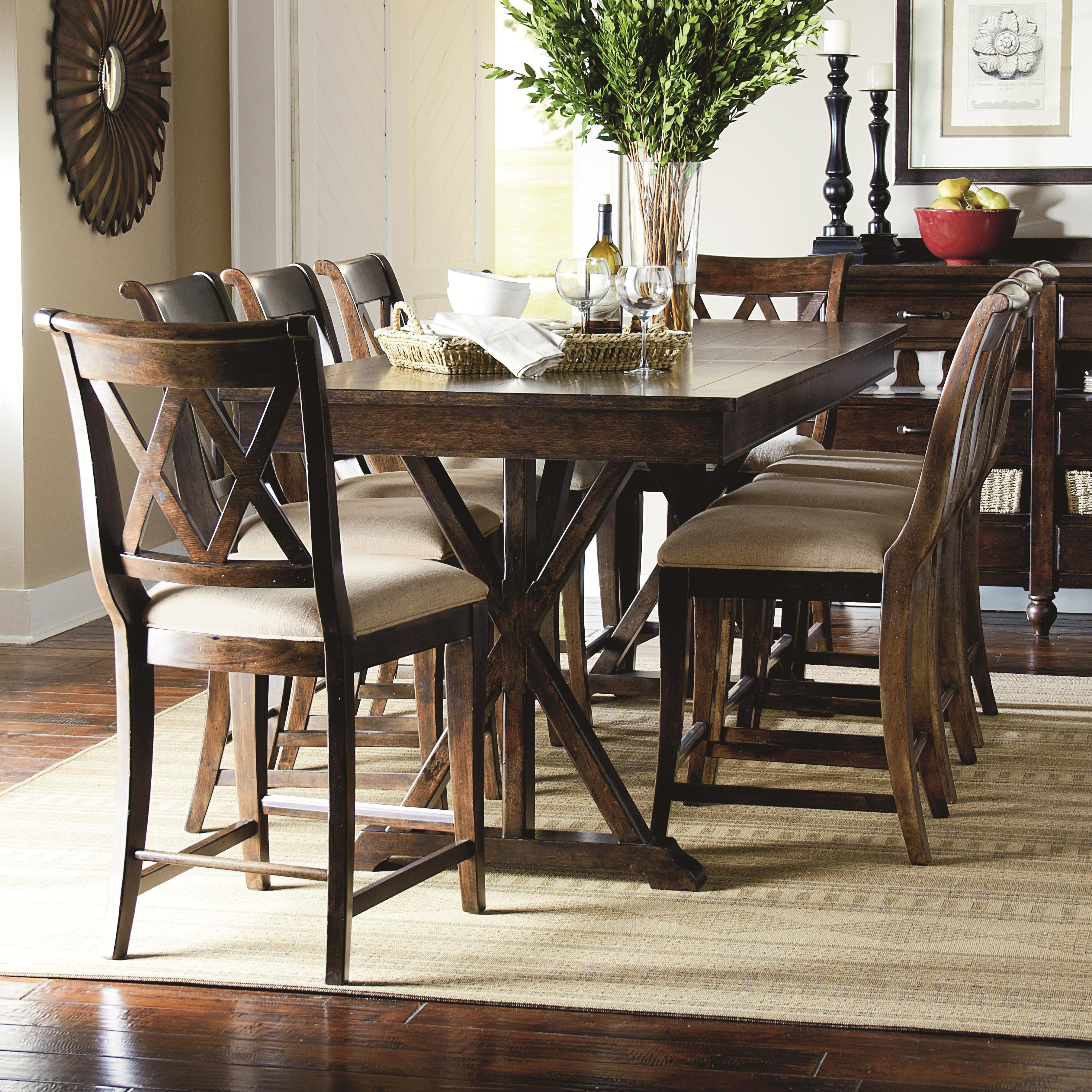 Cheery Caira Piece Extension Set Back Chairs Caira Piece Extension With Regard To Most Recent Chapleau Ii 9 Piece Extension Dining Tables With Side Chairs (View 17 of 20)