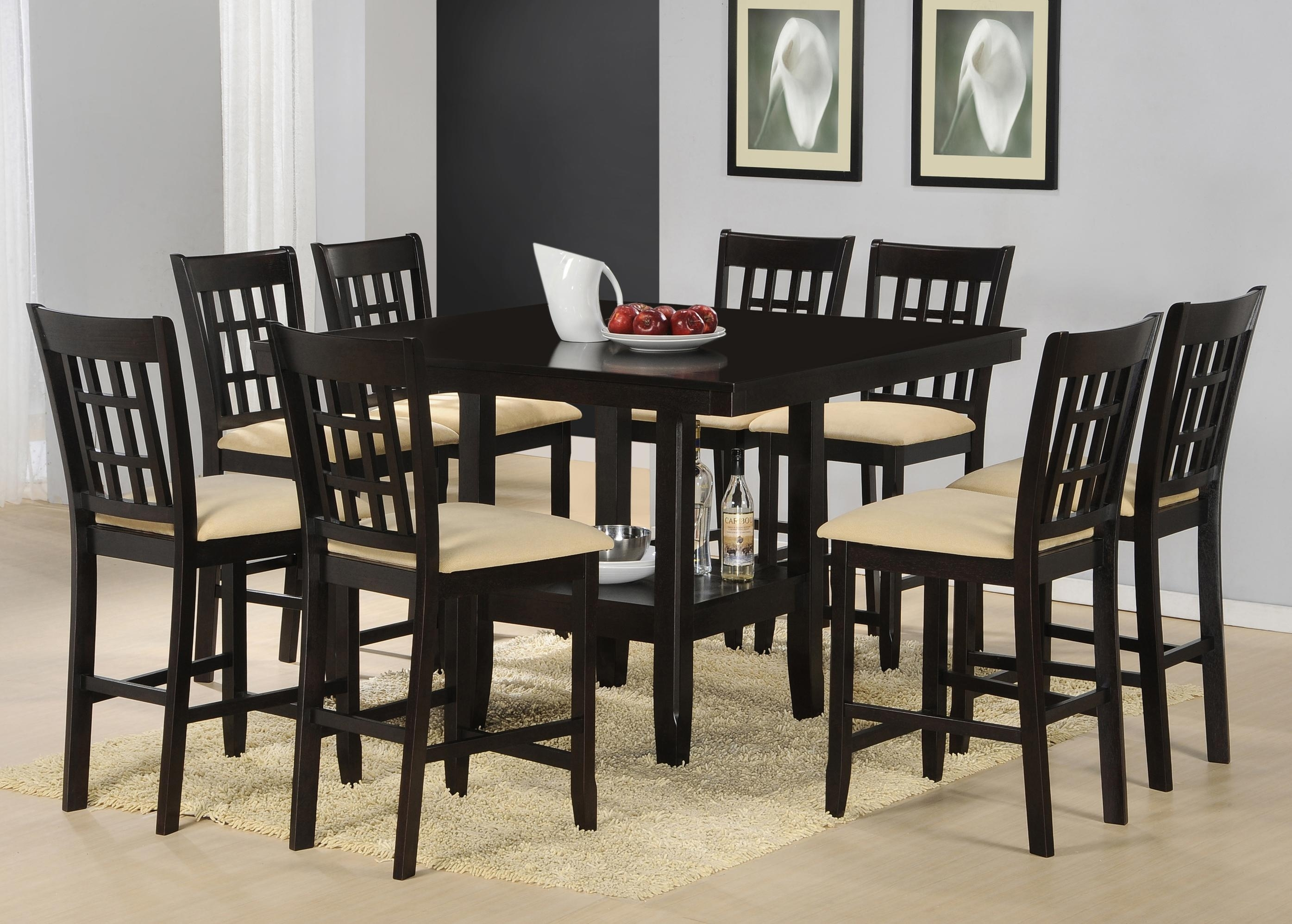 Cheery Caira Piece Extension Set Back Chairs Caira Piece Extension With Regard To Recent Chapleau Ii 9 Piece Extension Dining Table Sets (Image 12 of 20)