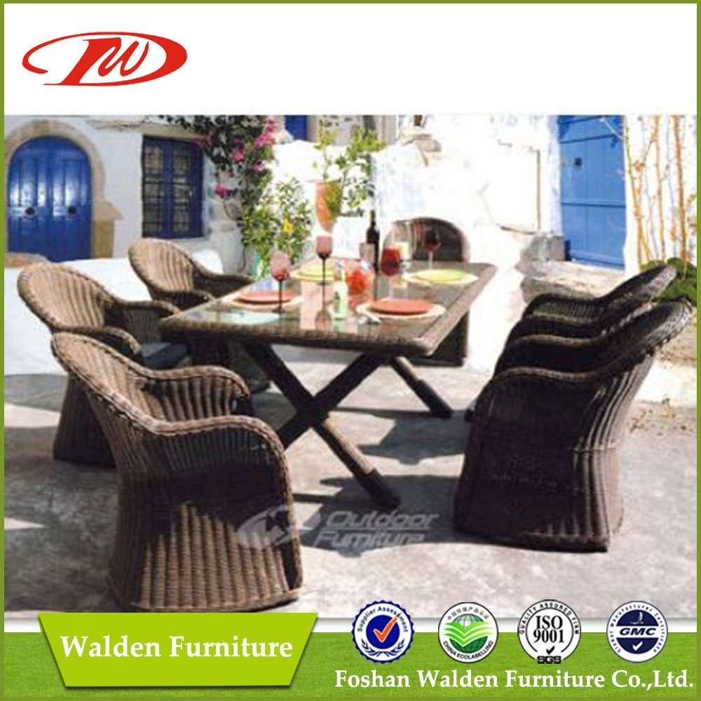 China Luxury Rattan Garden Dining Chair And Table (Dh 6072) – China Within Latest Walden Extension Dining Tables (Image 3 of 20)