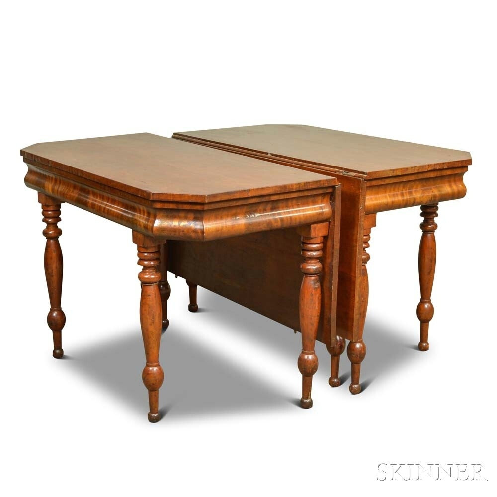 Classical Cherry And Mahogany Veneer Two Part Dining Table | Sale Pertaining To Most Recent Carly Rectangle Dining Tables (Image 12 of 20)