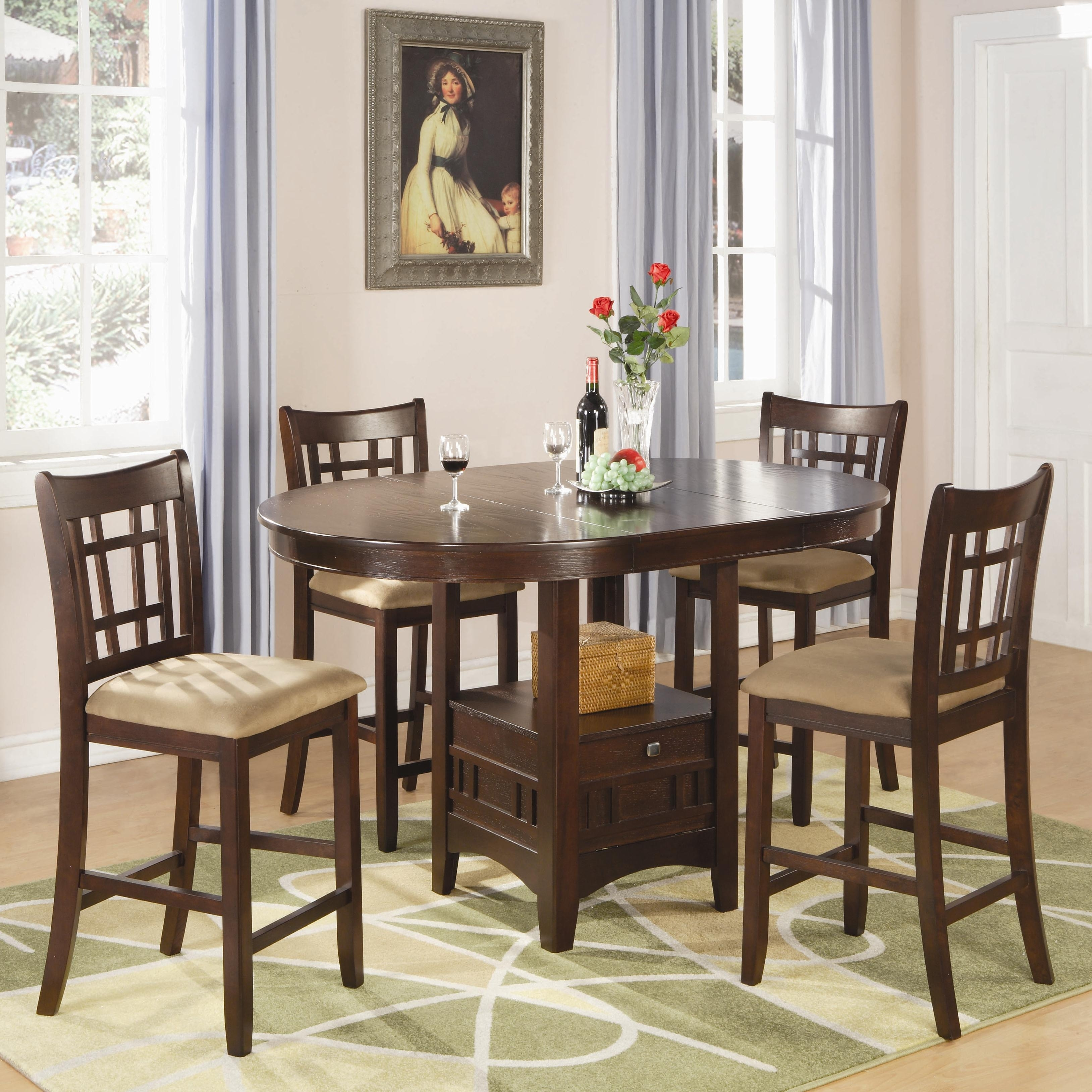 Coaster – Find A Local Furniture Store With Coaster Fine Furniture In Recent Craftsman 5 Piece Round Dining Sets With Side Chairs (Image 6 of 20)