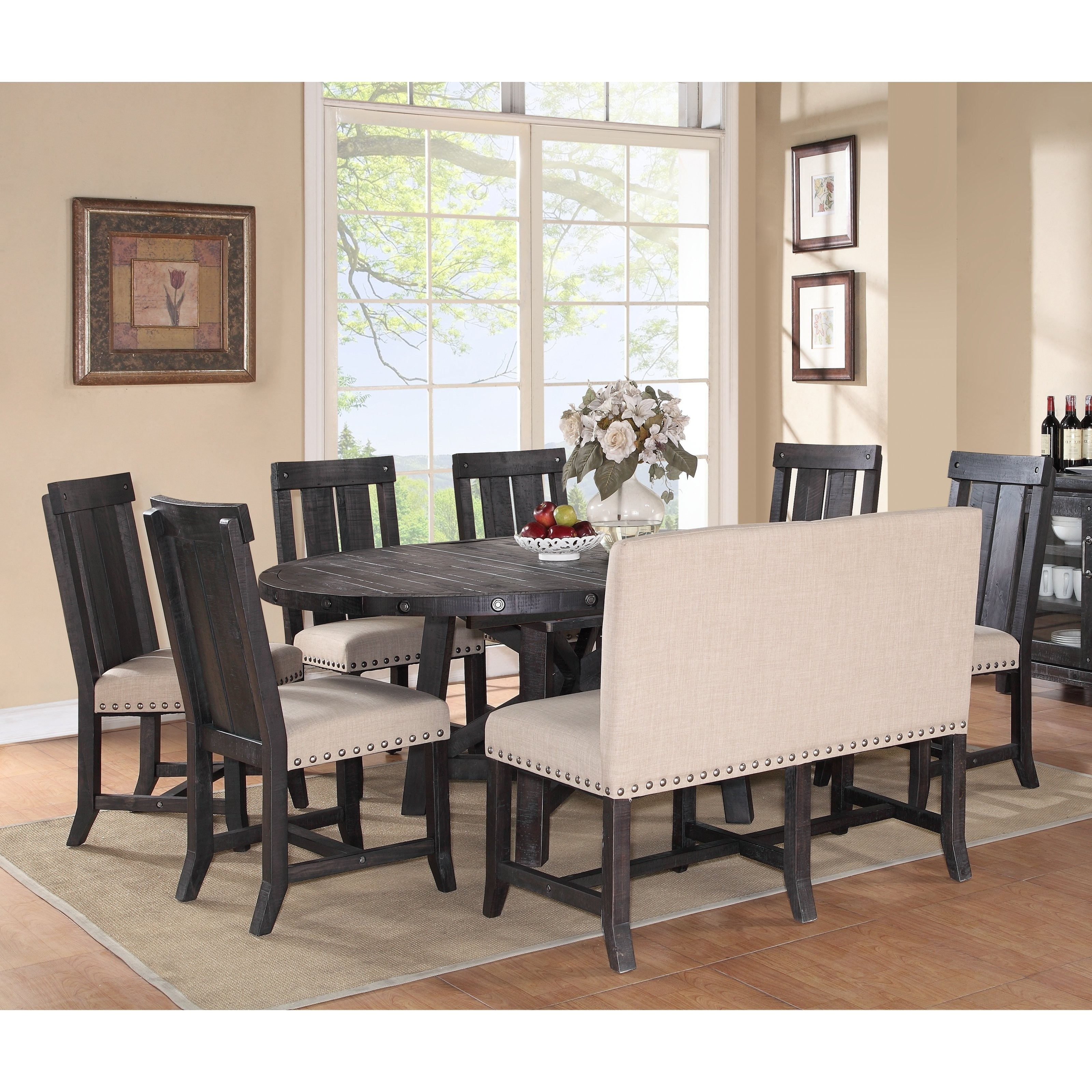 Coffee Table Dinner Table New Weston Home Two Tone 7 Piece Extension In Most Popular Chandler 7 Piece Extension Dining Sets With Wood Side Chairs (Image 10 of 20)
