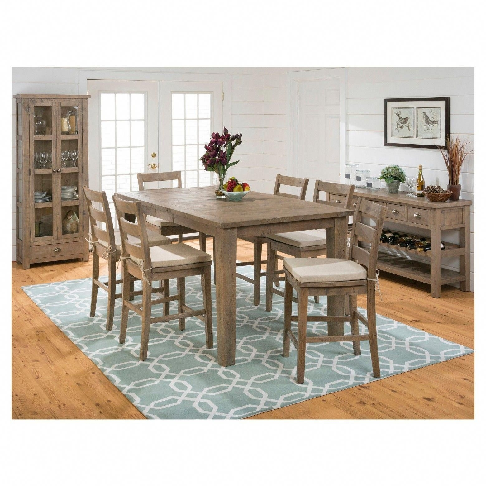 Combining Casual Cottage Design With On Trend Distressing, Jofran's With Regard To Current Craftsman 9 Piece Extension Dining Sets With Uph Side Chairs (Image 7 of 20)