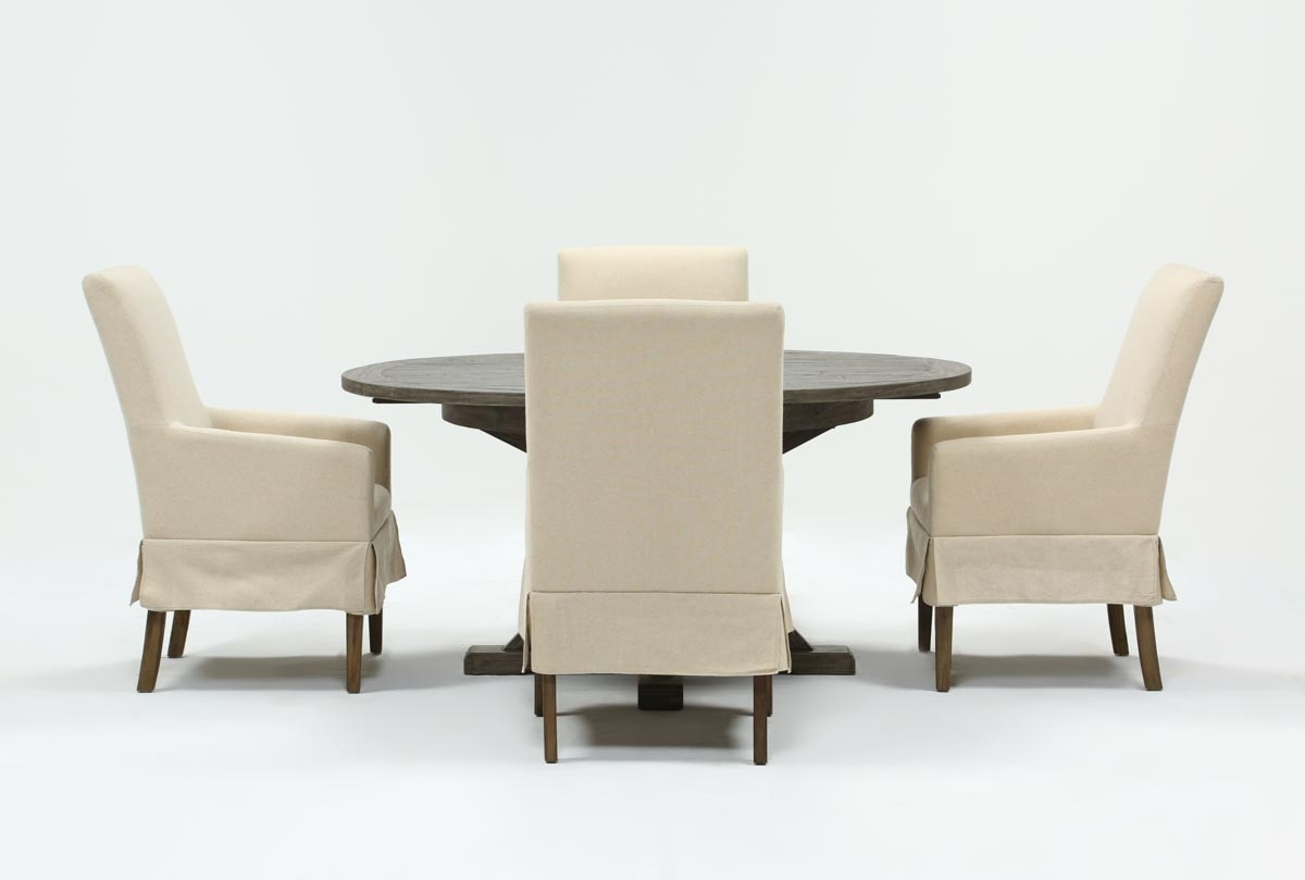 Combs 5 Piece 48 Inch Extension Dining Set With Mindy Side Chairs In Recent Combs 48 Inch Extension Dining Tables (Image 5 of 20)