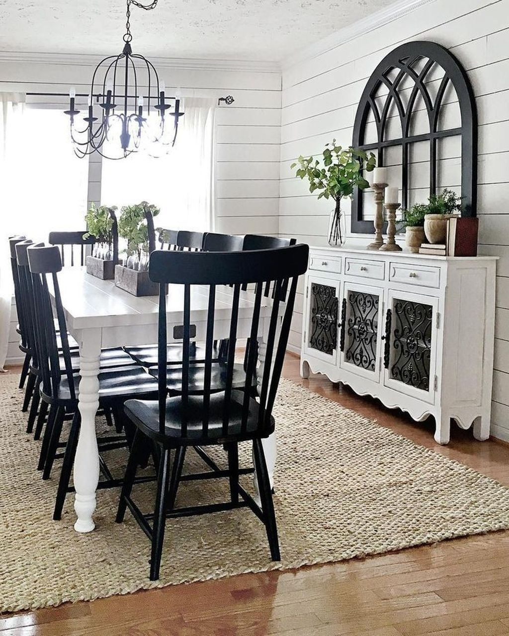 Cool 42 Stylish Modern Farmhouse Dining Room Remodel Ideas (Image 4 of 20)