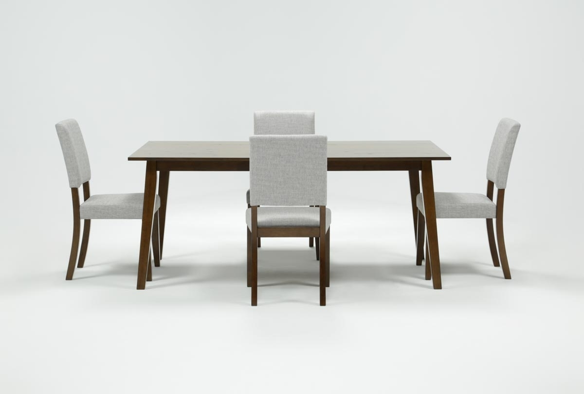 Cora 5 Piece Dining Set | Living Spaces Within 2017 Patterson 6 Piece Dining Sets (Photo 11 of 20)