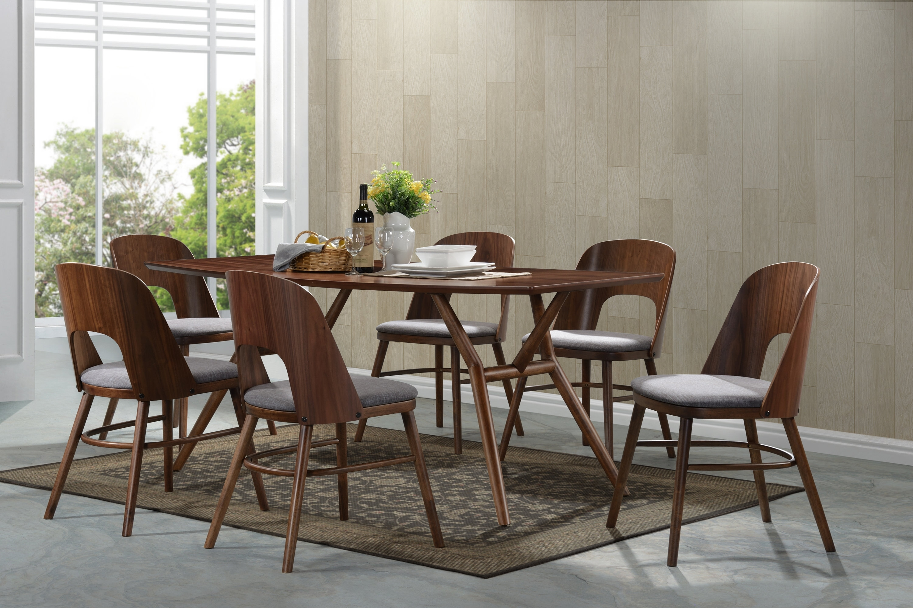 Corrigan Studio Kirsten Dining Set | Wayfair In Most Up To Date Kirsten 5 Piece Dining Sets (Image 8 of 20)