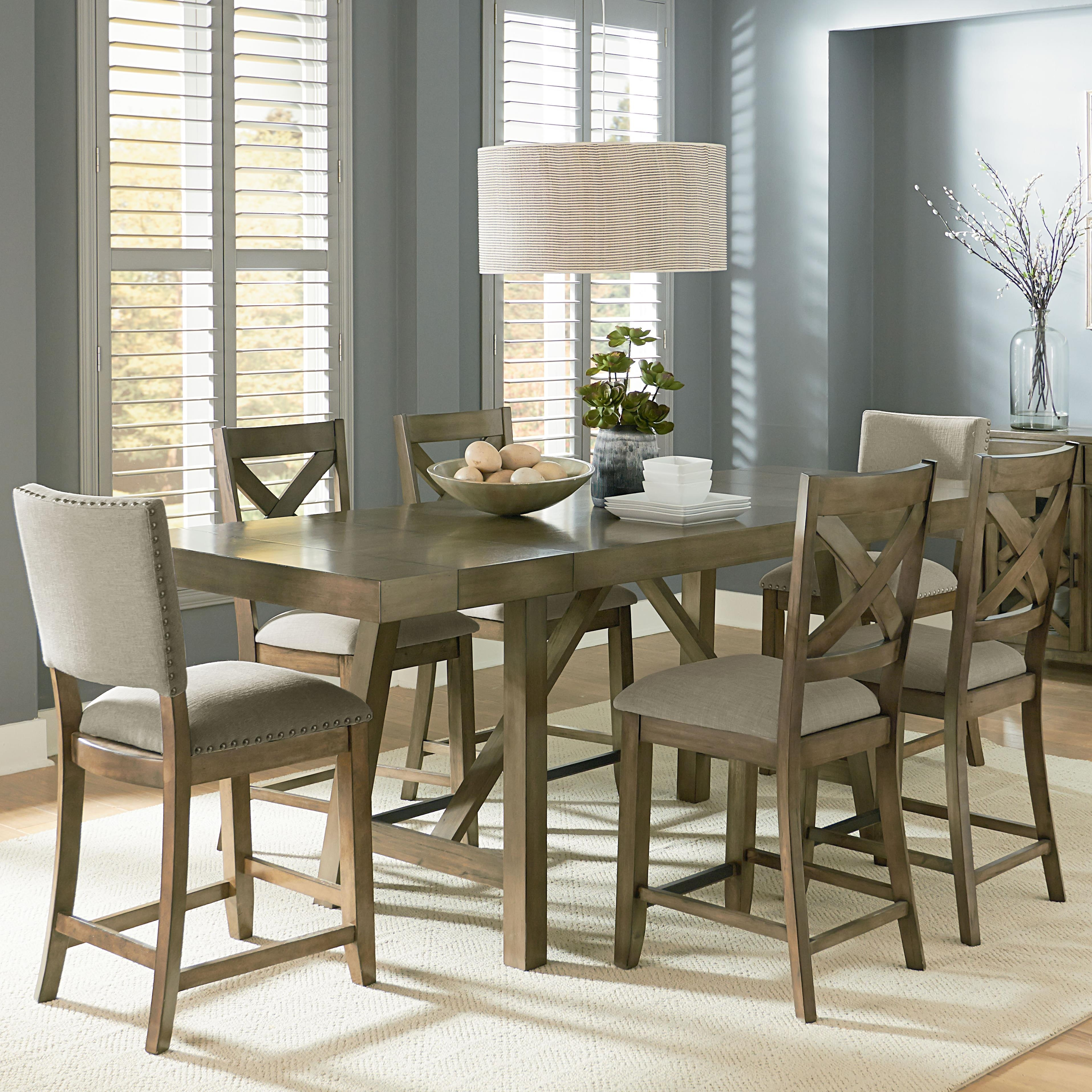 Counter Height 7 Piece Dining Room Table Setstandard Furniture Pertaining To 2017 Parquet 6 Piece Dining Sets (Image 6 of 20)