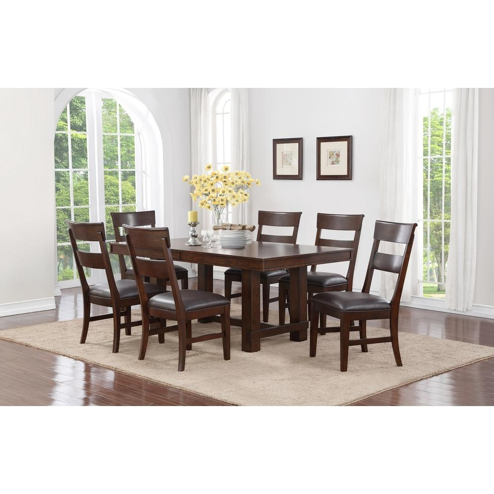 Craft + Main Alden 7 Piece Walnut Dining Set Ads717 – The Home Depot With Regard To 2018 Craftsman 9 Piece Extension Dining Sets (Photo 1 of 20)