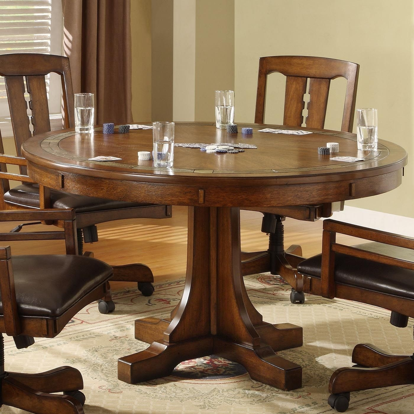 Craftsman Furniture | Riverside Furniture 295 Craftsman Home Convert Regarding Current Craftsman Round Dining Tables (Image 3 of 20)