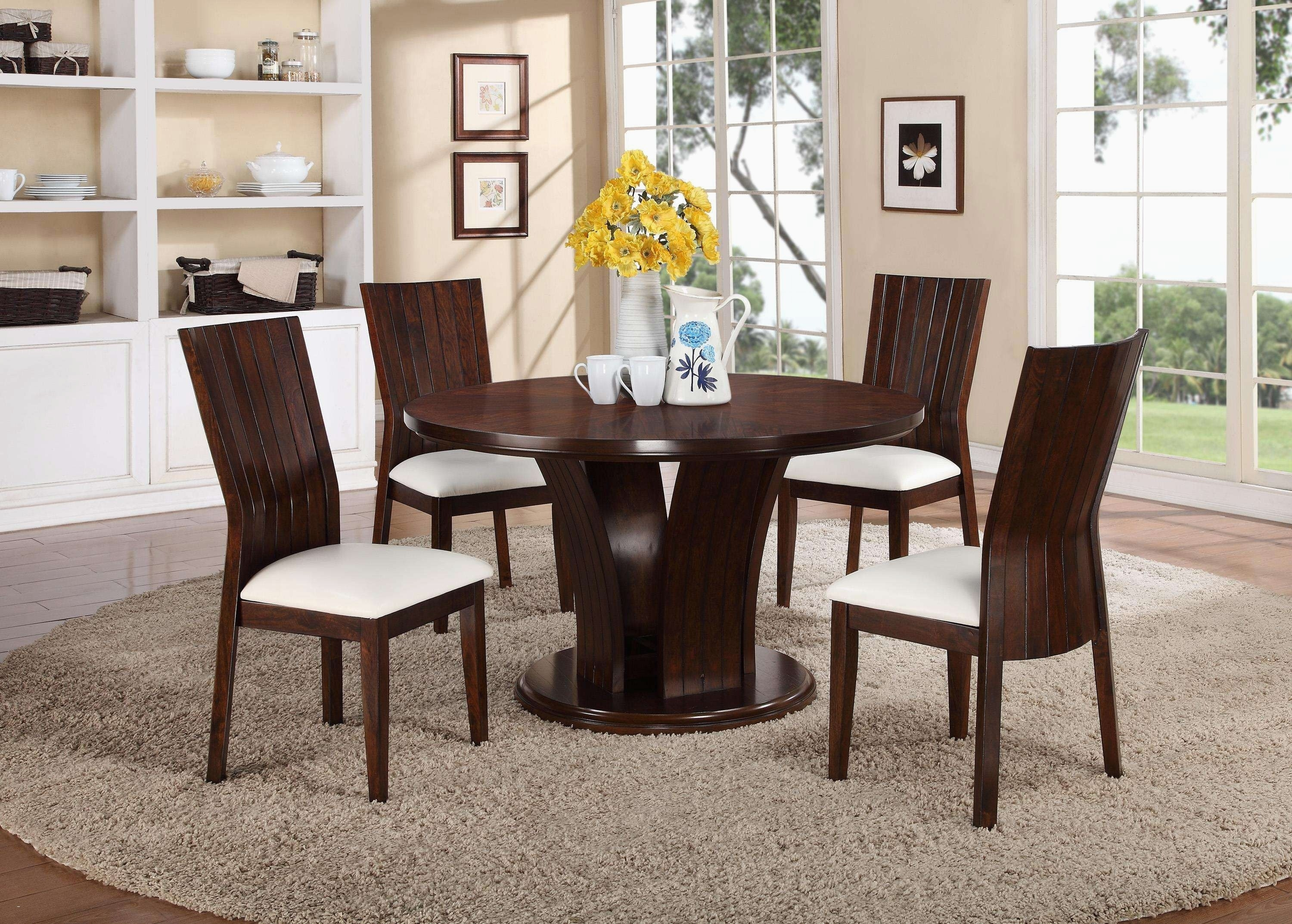 Craftsman Style Dining Room Furniture Inspirationa 6 Seat Round For Most Popular Craftsman Round Dining Tables (Image 5 of 20)