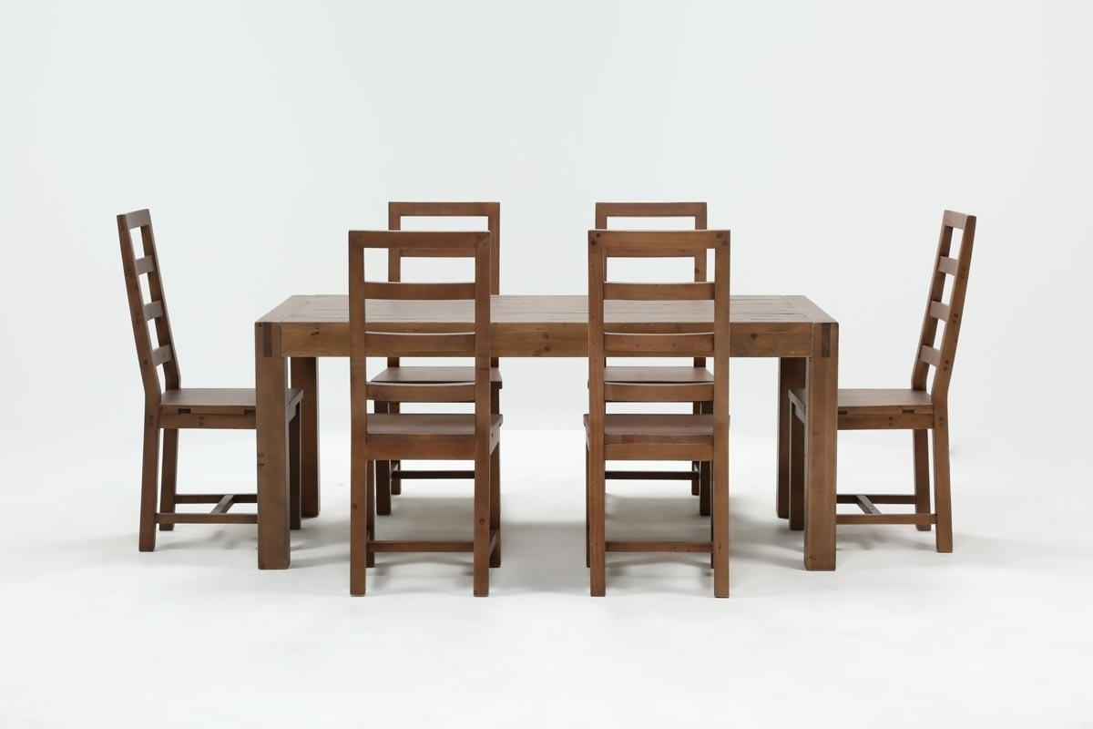Crawford 7 Piece Rectangle Dining Set | Living Spaces Throughout Most Recently Released Combs 7 Piece Dining Sets With Mindy Slipcovered Chairs (Image 7 of 20)