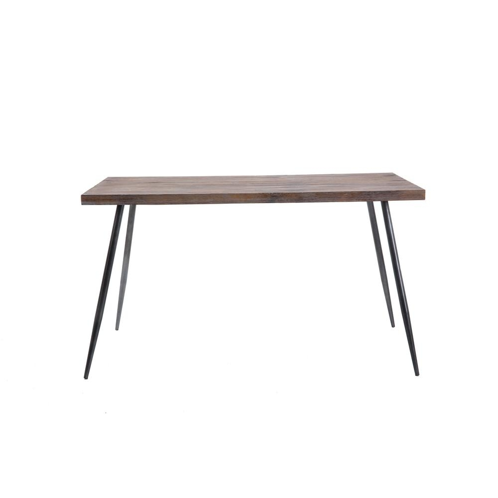 Crawford & Burke Barham Gray Dining Table Desk 016702Dt – The Home Depot With Best And Newest Crawford Rectangle Dining Tables (Photo 5 of 20)