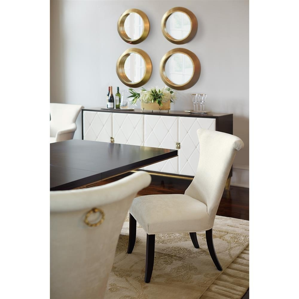 Crawford Regency Terrace Gold Pedestal Wood Dining Table | Kathy Kuo Pertaining To Newest Crawford Rectangle Dining Tables (Image 9 of 20)
