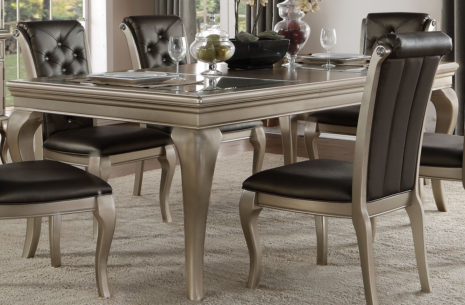 Crawford Silver Extendable Dining Table From Homelegance | Coleman Within Most Current Crawford Rectangle Dining Tables (Photo 6 of 20)