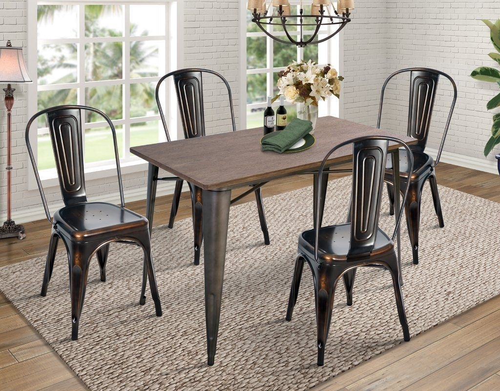 Croley 5 Piece Dining Set | Decor | Pinterest | Dining And House Intended For Newest Jameson Grey 5 Piece Counter Sets (Photo 9 of 20)