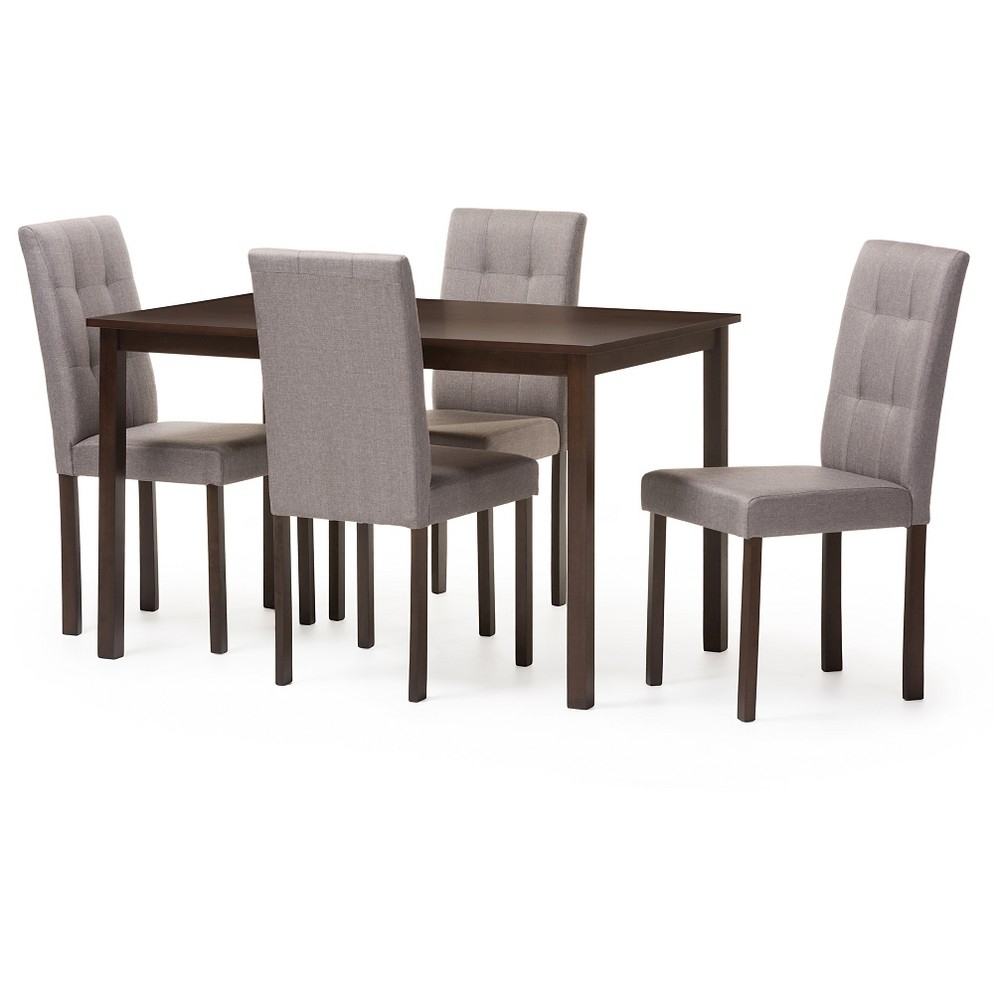 Croley 5 Piece Dining Set Intended For Most Current Jameson Grey 5 Piece Counter Sets (Photo 15 of 20)