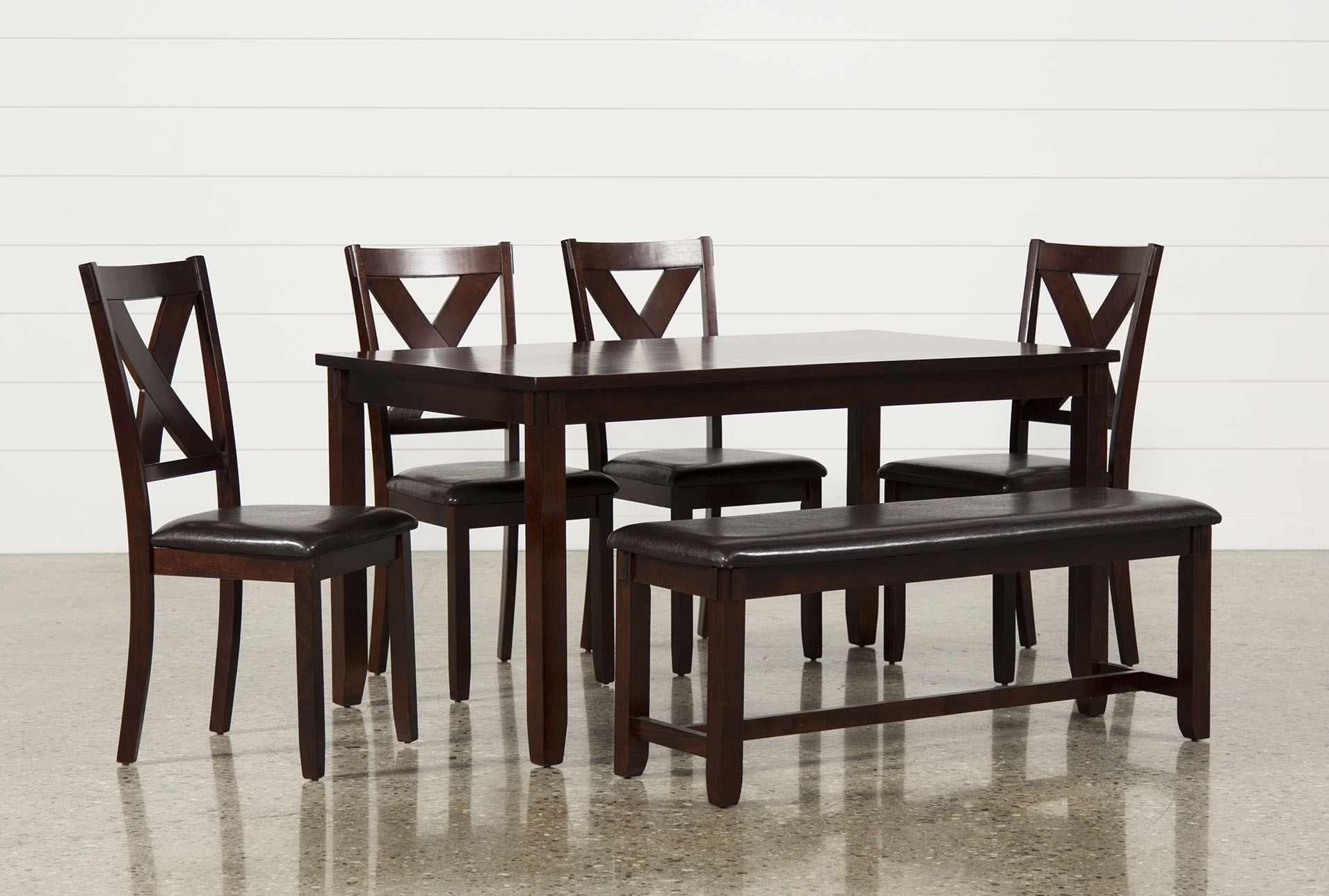 Dakota 6 Piece Dining Set | Dining Regarding Most Recently Released Lindy Espresso Rectangle Dining Tables (Image 2 of 20)