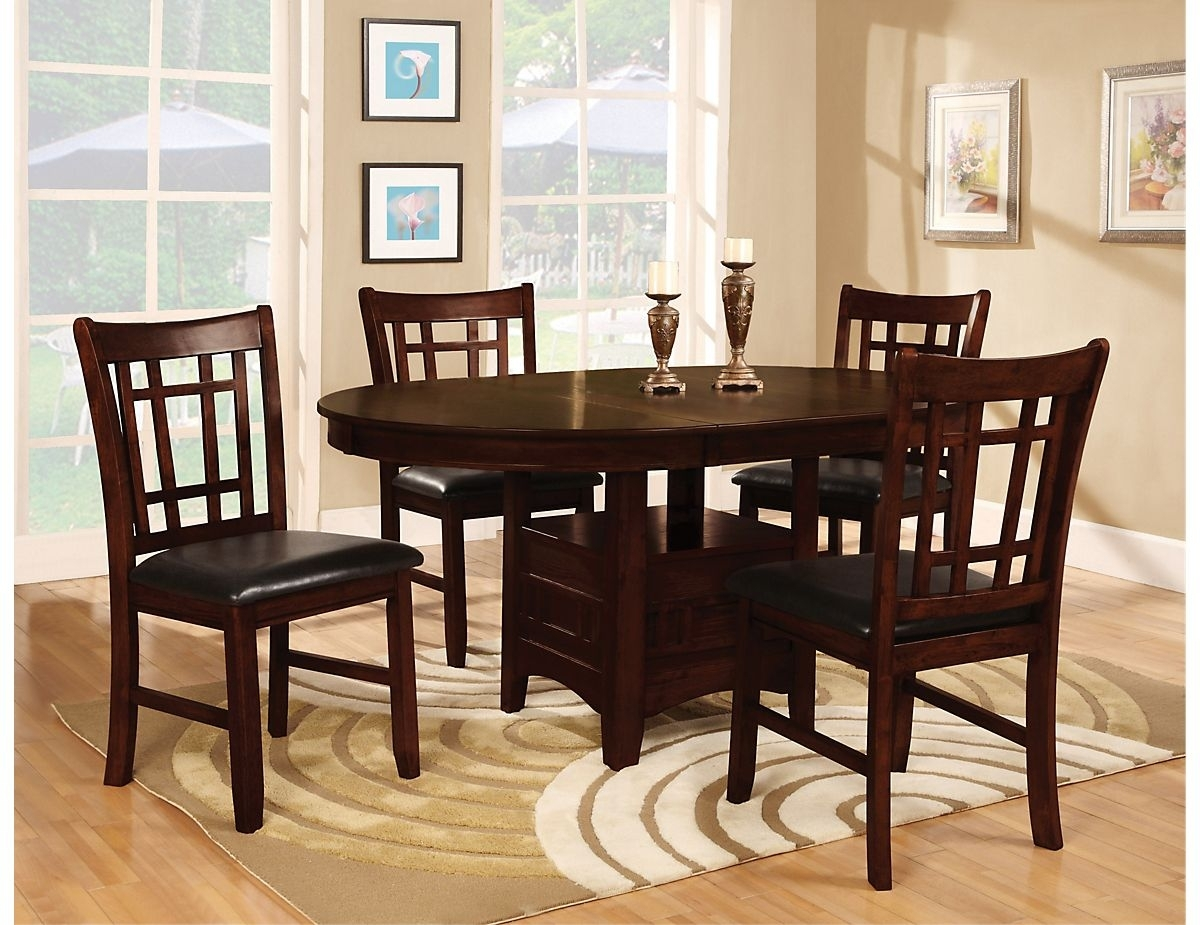 Dalton 5 Piece Chocolate Dining Package, (11551Dpk5) | The Brick Regarding Most Popular Craftsman 5 Piece Round Dining Sets With Side Chairs (Image 7 of 20)