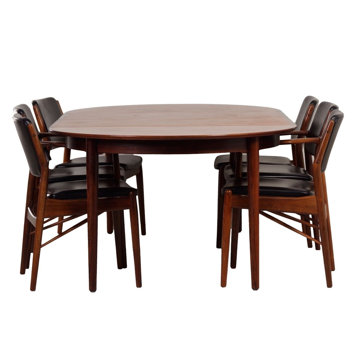 Danish Rosewood Dining Setarne Vodder For Sibast, 1960S For Sale Inside Most Recent Caira 9 Piece Extension Dining Sets (Image 14 of 20)