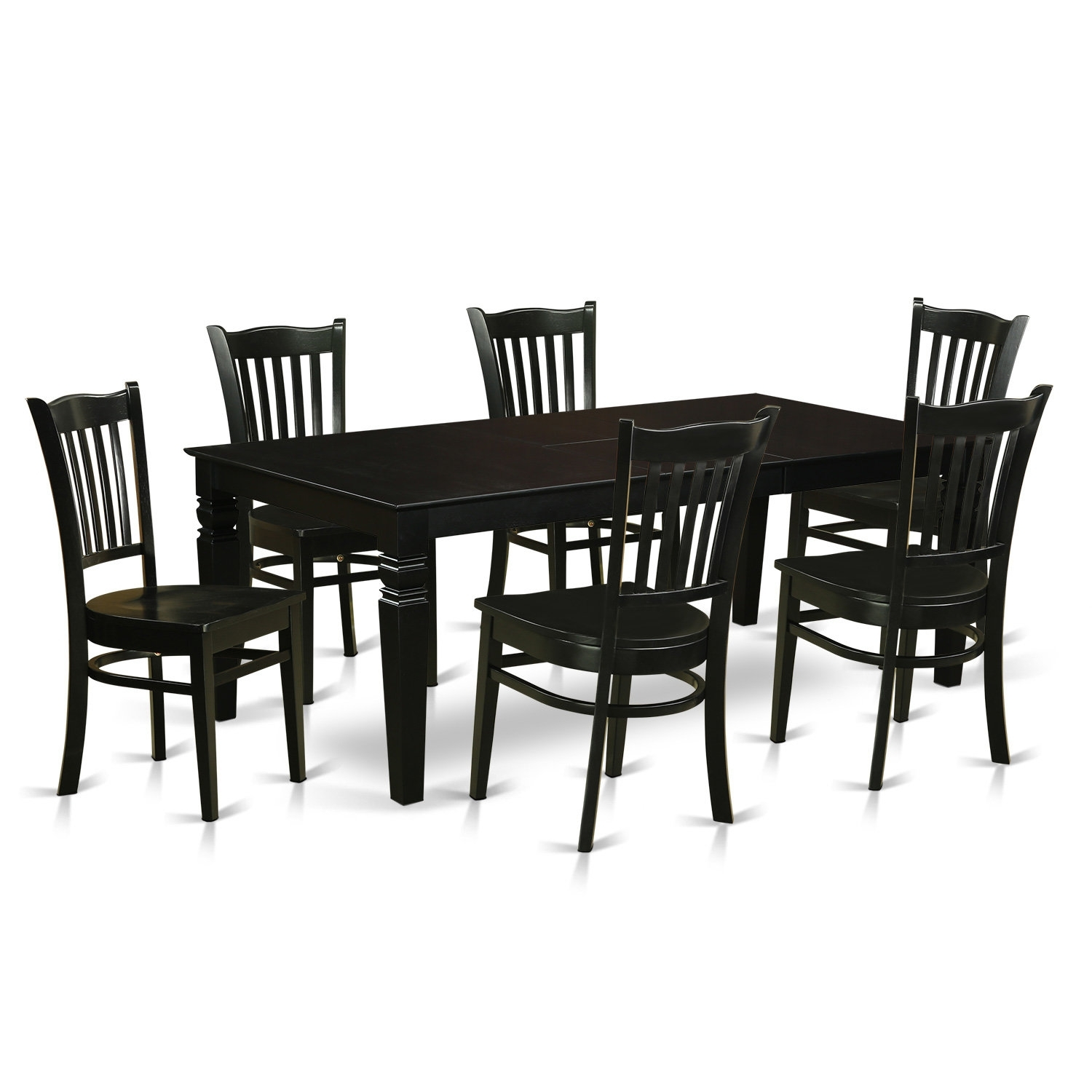 Darby Home Co Beldin 7 Piece Dining Set | Wayfair For Recent Candice Ii 7 Piece Extension Rectangle Dining Sets (Photo 3 of 20)