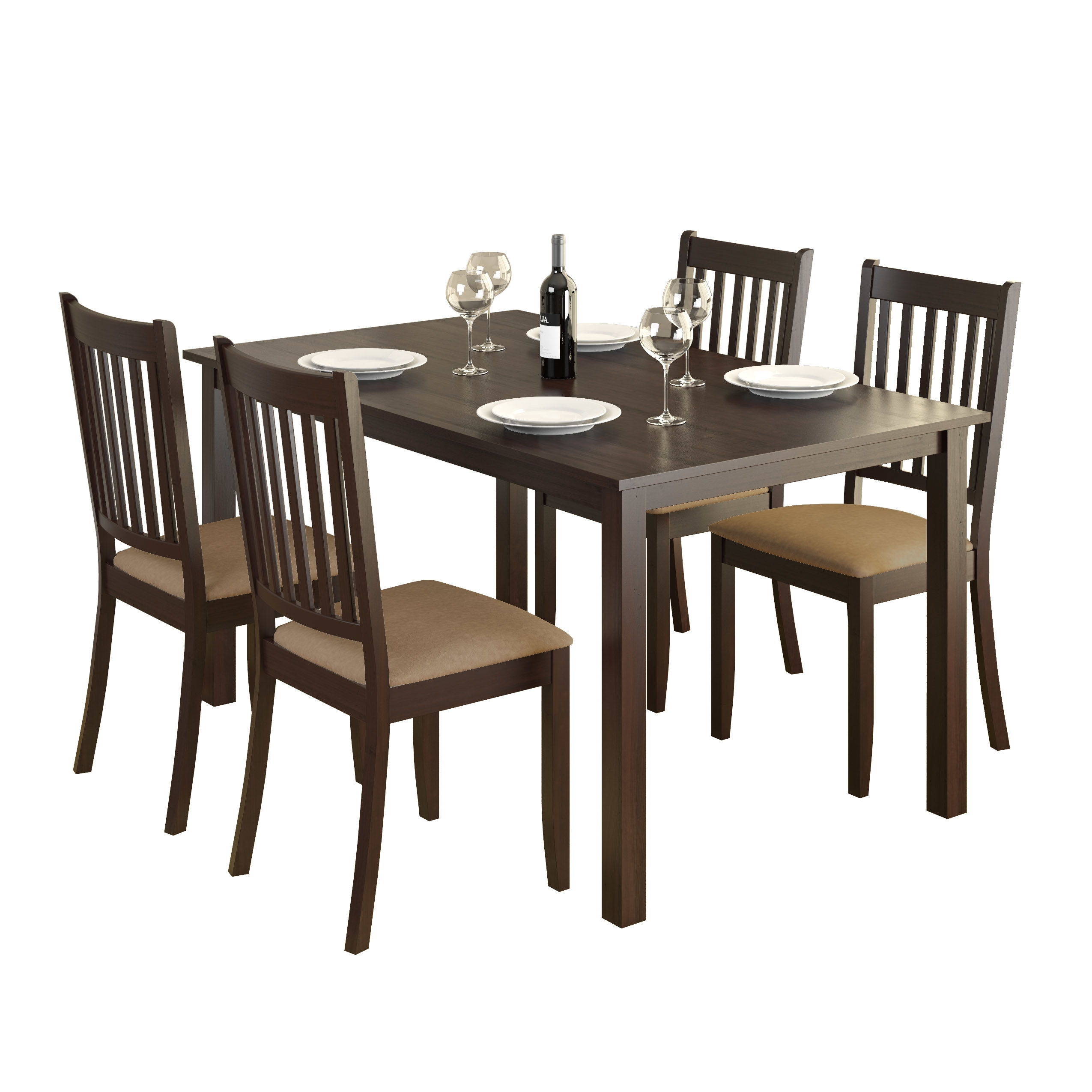 Dcor Design Atwood 5 Piece Dining Set & Reviews | Wayfair Pertaining To Most Recent Laurent 7 Piece Rectangle Dining Sets With Wood And Host Chairs (Image 9 of 20)
