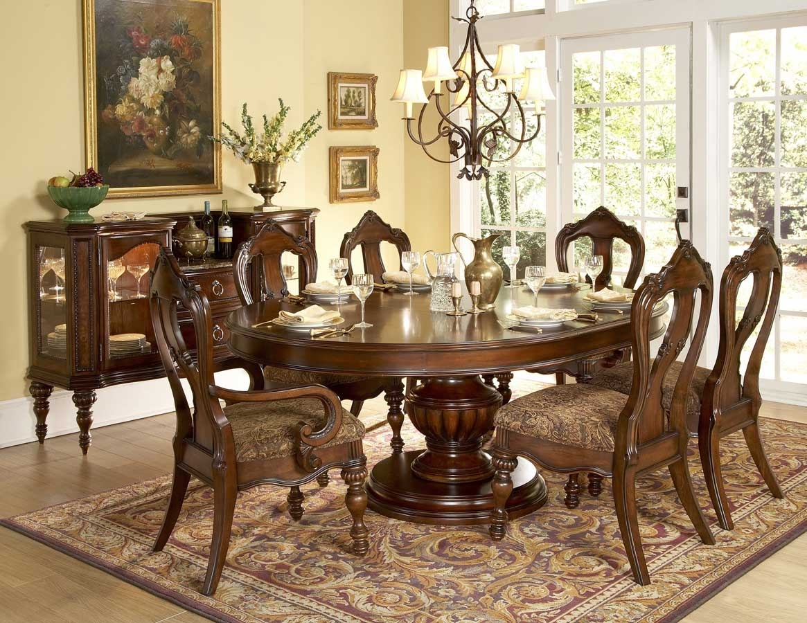 Decorating Nice Dining Table Set 6 Seater Formal Room Ideas Casual With Regard To 2017 Candice Ii Round Dining Tables (Photo 18 of 20)