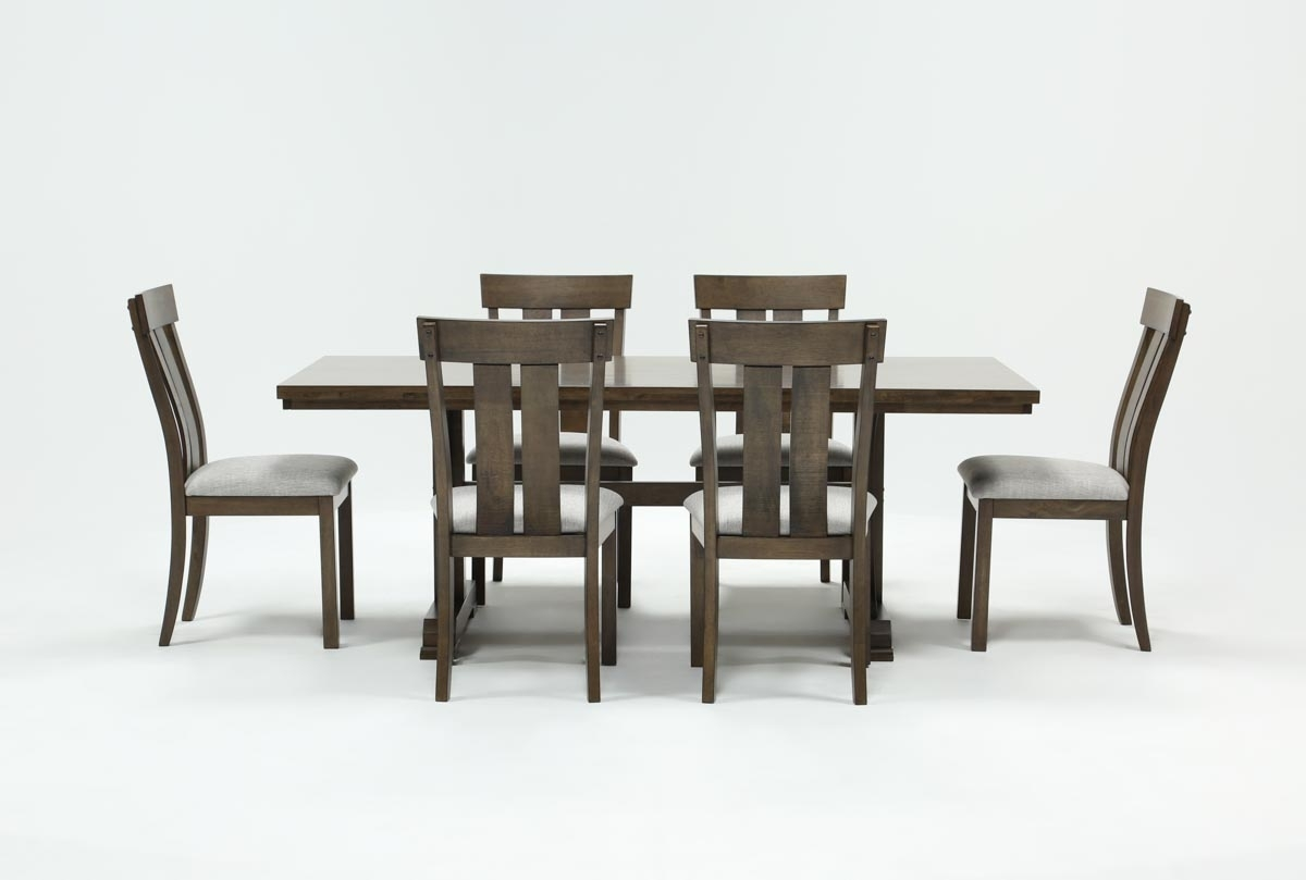 Delfina 7 Piece Dining Set | Living Spaces Inside Newest Parquet 7 Piece Dining Sets (View 19 of 20)