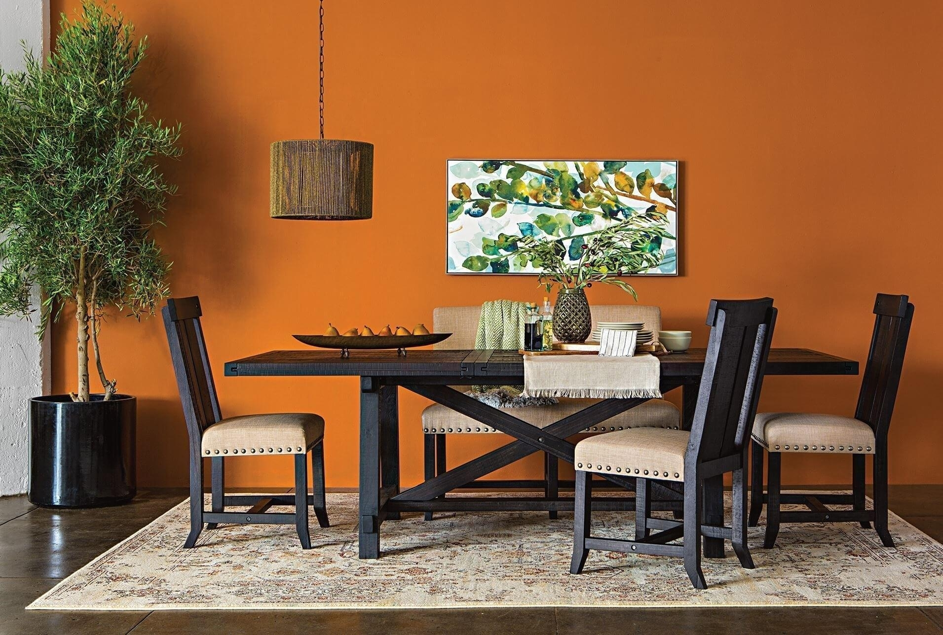 Deluxe Rectangular Room Table Ismaya Design Image Jaxon Extension For Newest Jaxon Round Extension Dining Tables (Image 2 of 20)