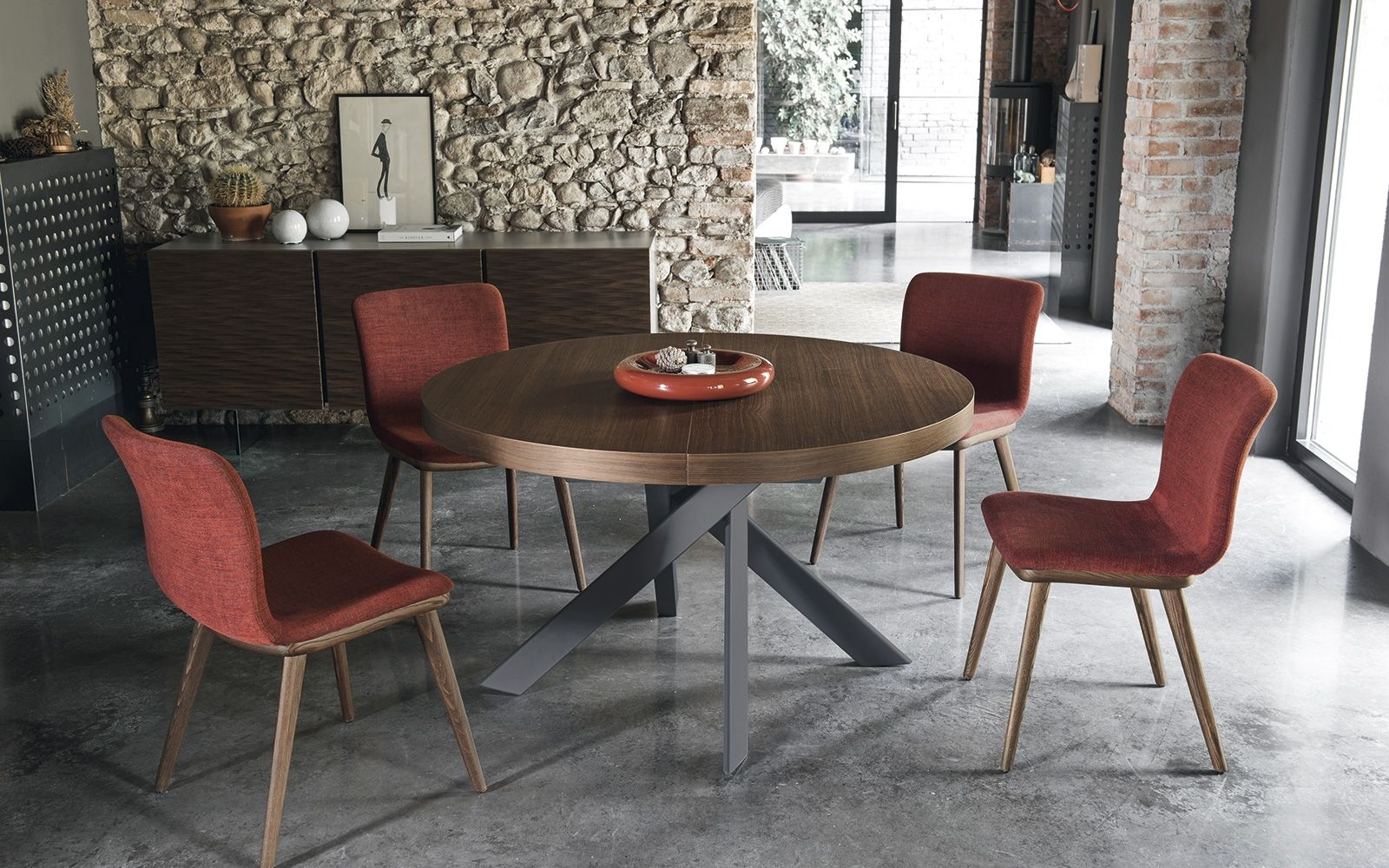 Design Dining Table Tivoli – Calligaris Cs/4100 | Dark Kitchens Intended For Recent Lassen 7 Piece Extension Rectangle Dining Sets (Image 3 of 20)
