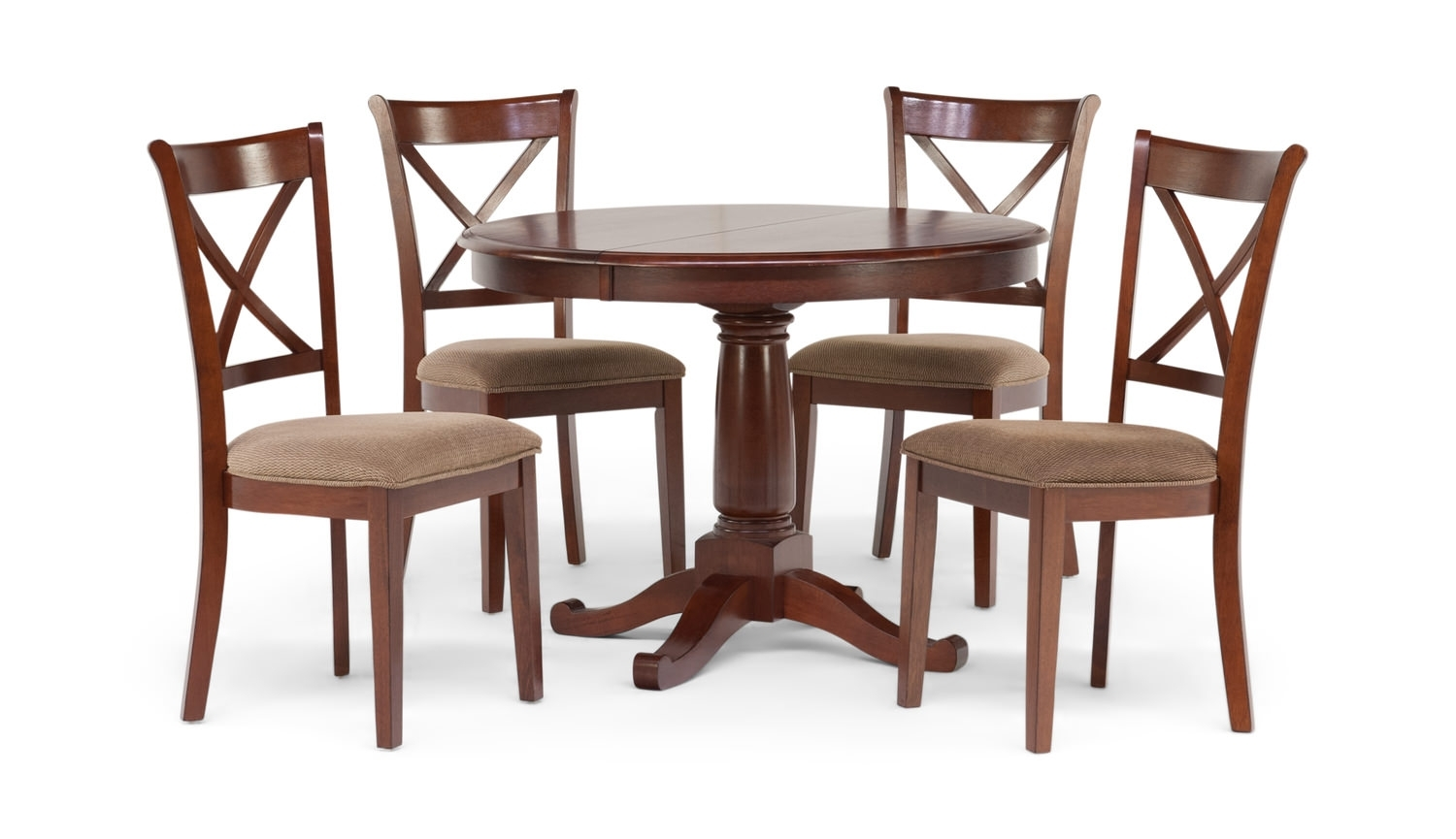 Desoto Table With 4 Chairsthomas Cole | Hom Furniture For 2018 Caden Round Dining Tables (Image 11 of 20)