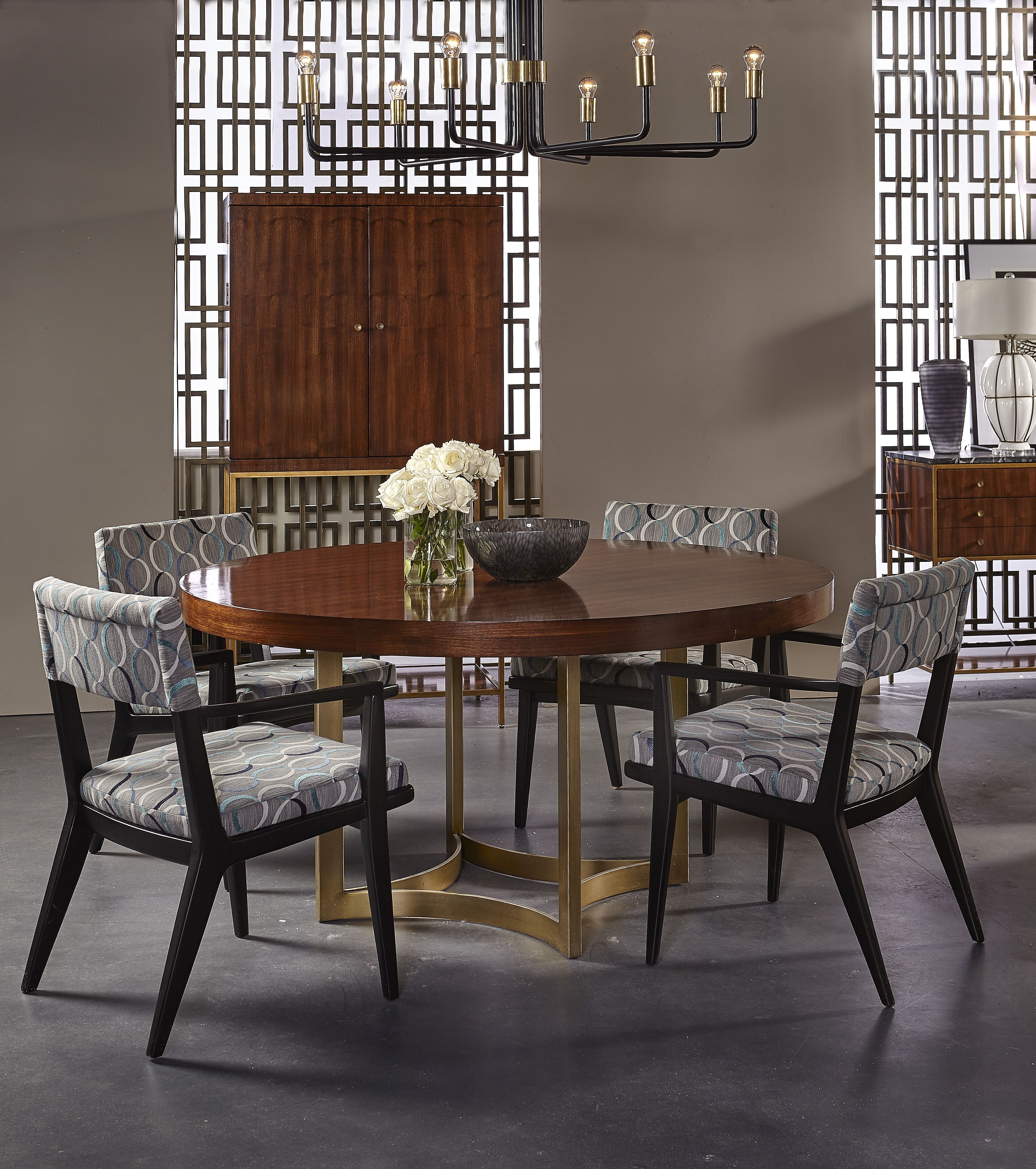 Dining Room | Ashton Dining Roommaison 55 | This Round Dining Regarding Most Recent Laurent 7 Piece Rectangle Dining Sets With Wood And Host Chairs (Photo 8 of 20)